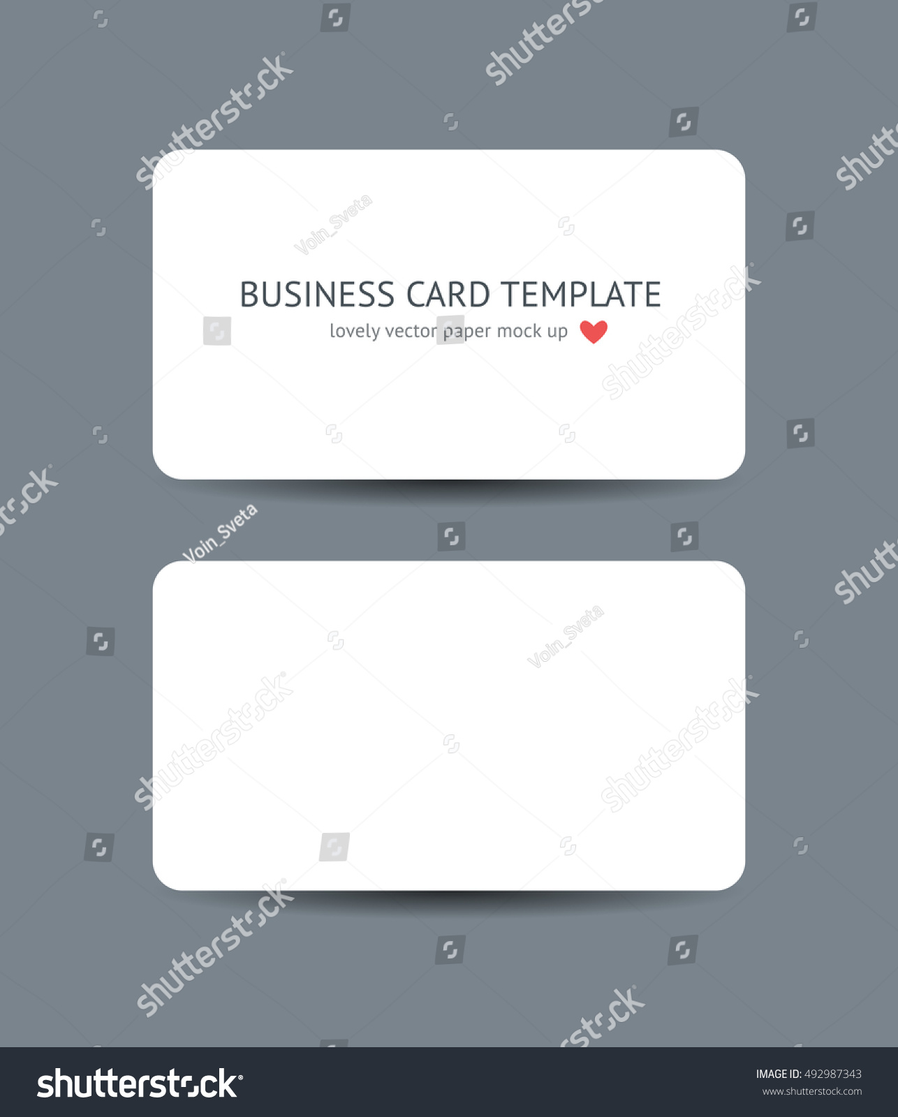 Two business cards round corners template stock vector 2018 two business cards with round corners template mockup isolated on dark gray background realistic vector reheart Gallery