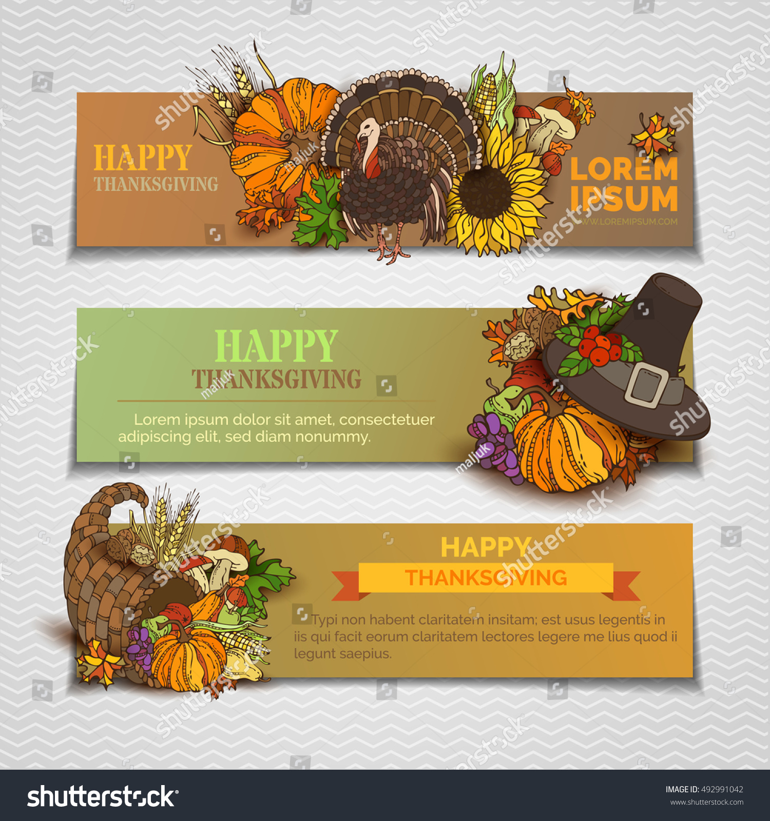 Happy Thanksgiving Horizontal Banners Set Pumpkin Stock. Video Game Signs. Wwii German Lettering. Hepburn Mural Murals. Labels To Buy