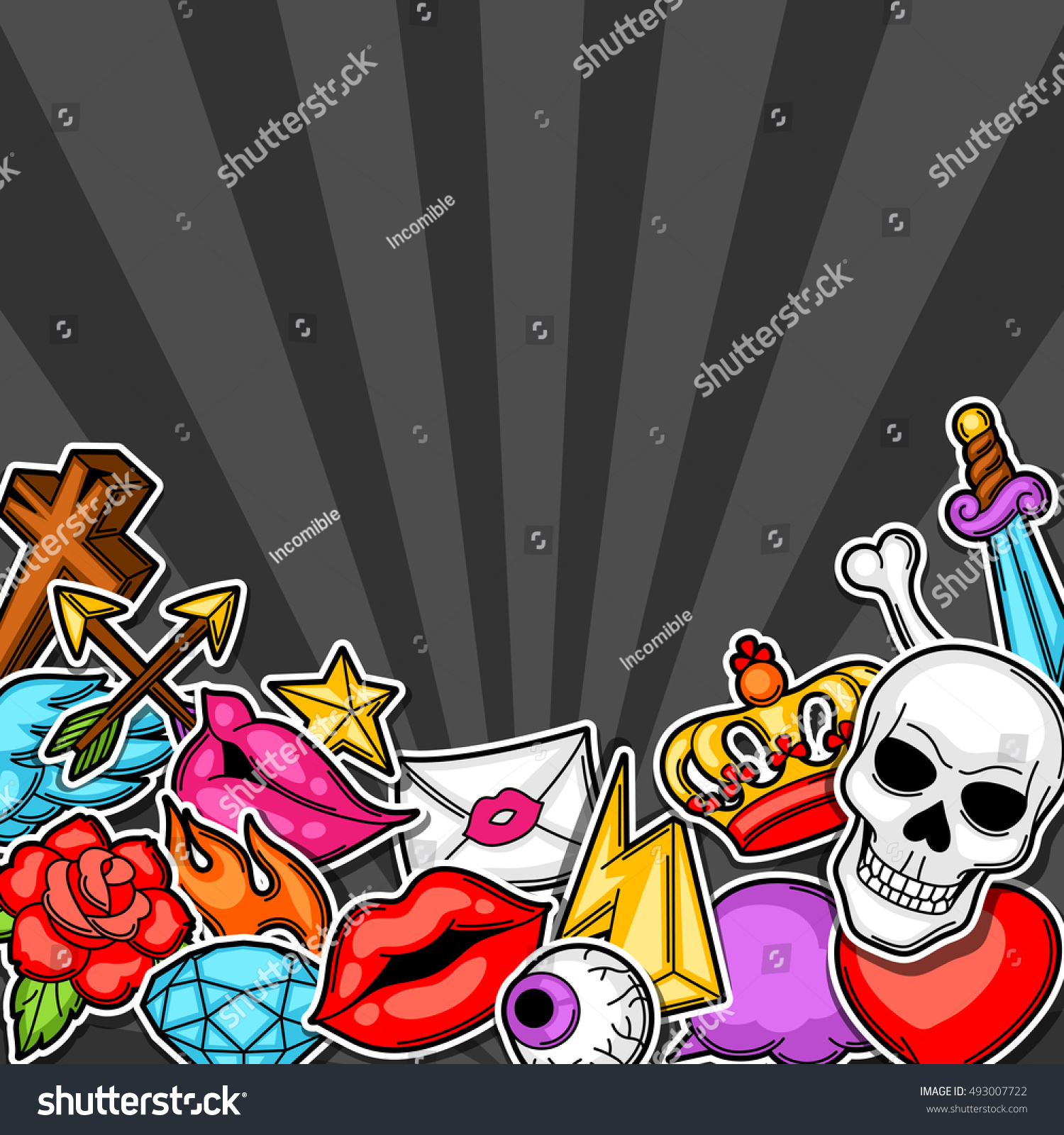 Background retro tattoo symbols cartoon old stock vector 493007722 background retro tattoo symbols cartoon old stock vector 493007722 shutterstock biocorpaavc