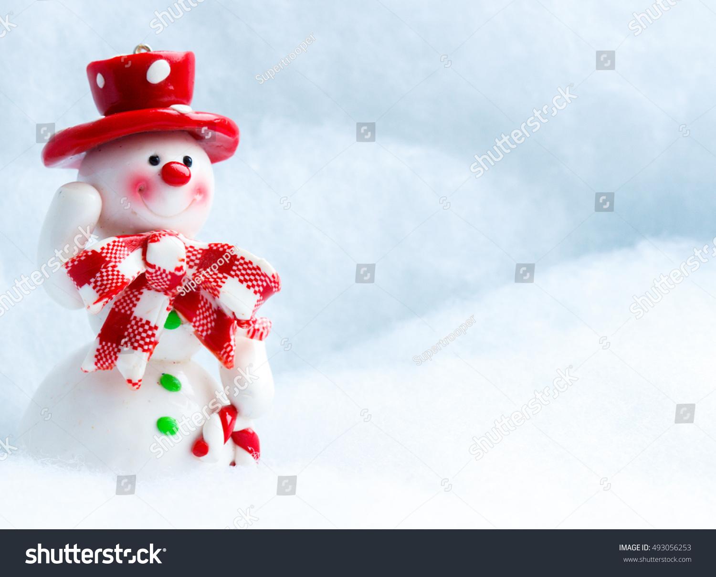 Merry christmas christmas greeting card template stock photo edit merry christmas christmas greeting card template with festive snowman with a red hat snowman m4hsunfo