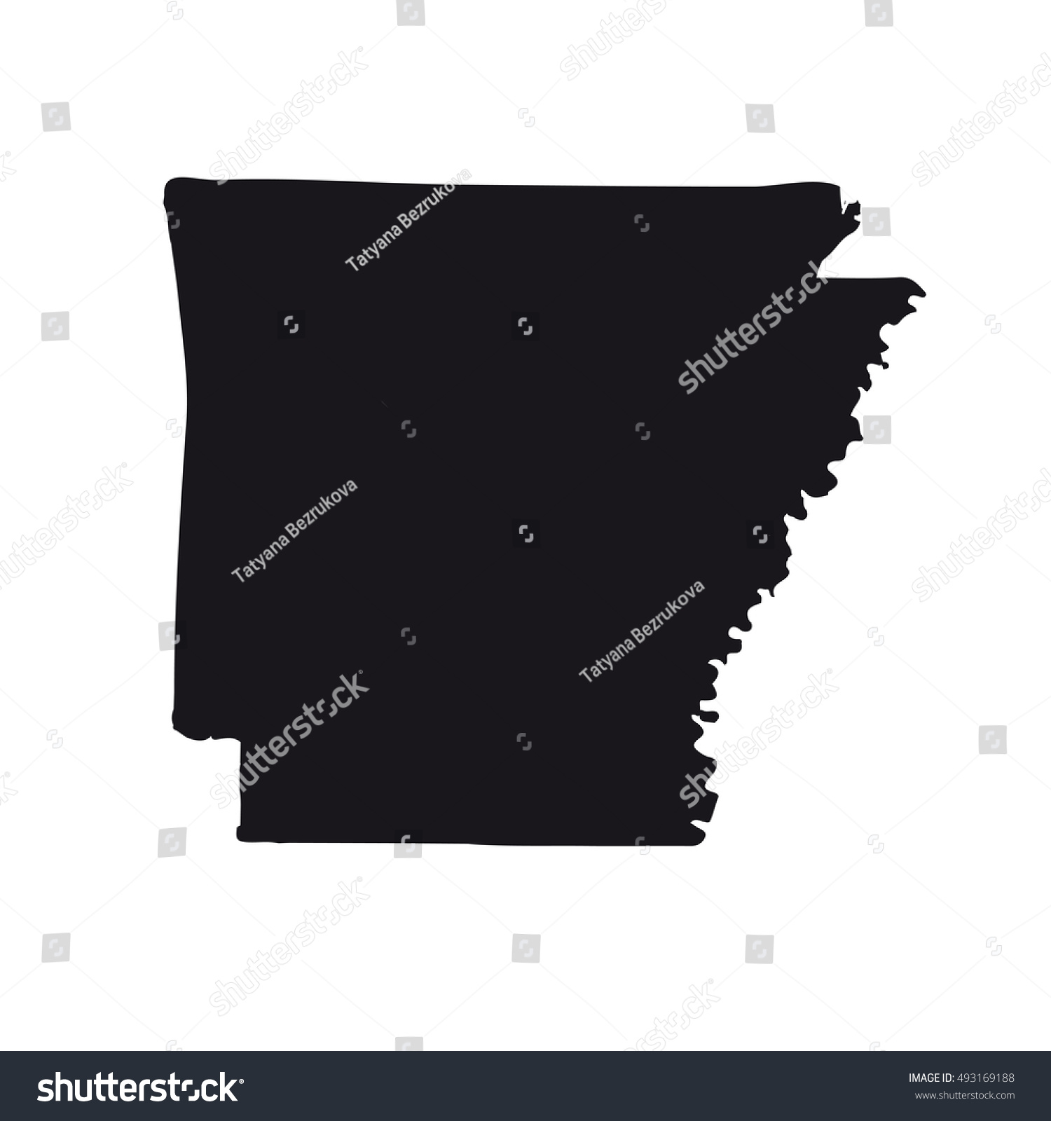 Arkansas Us Map Nautical Map - Arkansas relief map