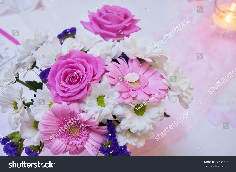 Beautiful Wedding Arrangement Wedding Decoration In Pink Color