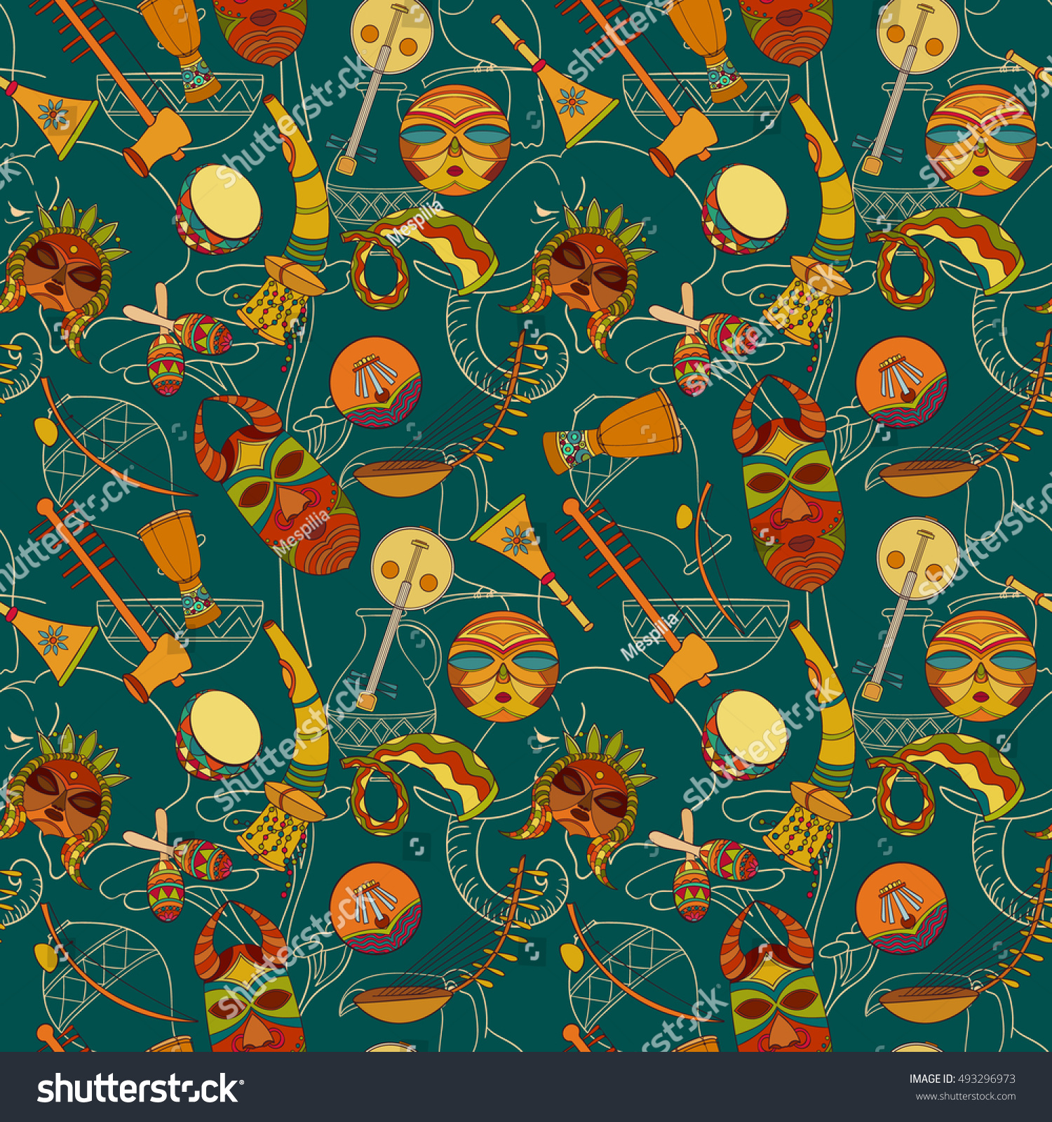 Simple Wallpaper Music Pattern - stock-vector-hand-drawn-seamless-africa-music-pattern-vector-illustration-can-be-used-for-wallpaper-website-493296973  Best Photo Reference_234124.jpg