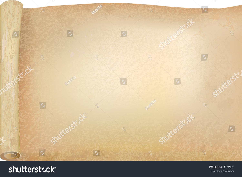 Vellum Papyrus Opened Scroll Vector Background Stock-Vektorgrafik ...