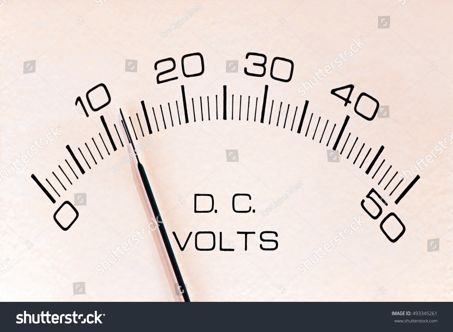 Analog Dc Voltmeter Voltage Indicating Meter Stock Photo Edit Now Voltmeters Or Showing Twelve Volts