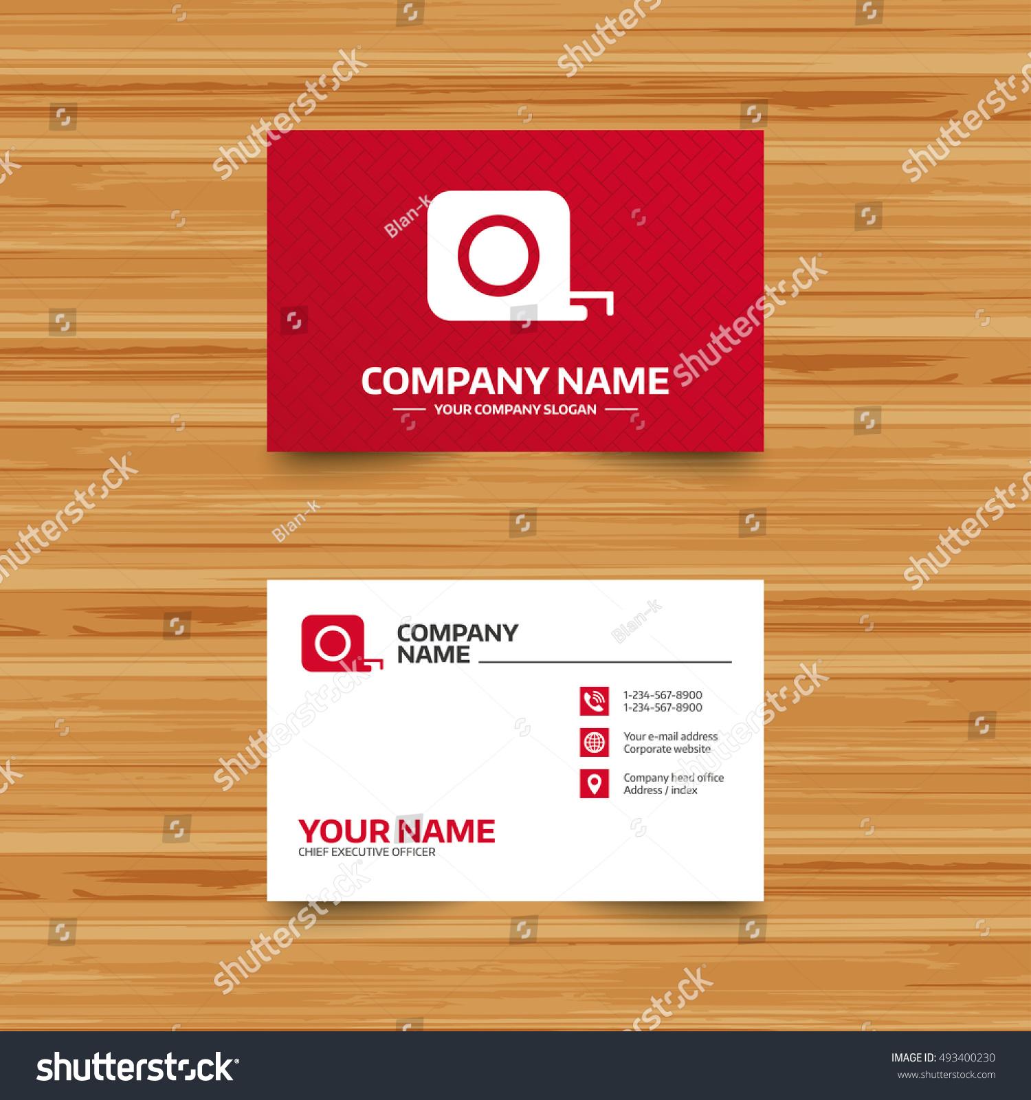 Business Card Template Roulette Construction Sign Stock Vector - Construction business card templates