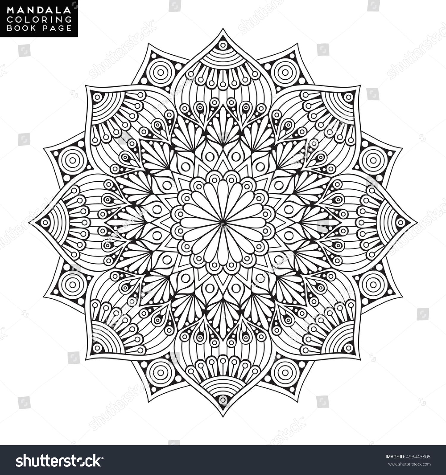 Flower Mandala Vintage Decorative Elements Oriental Stock Vector 493443805