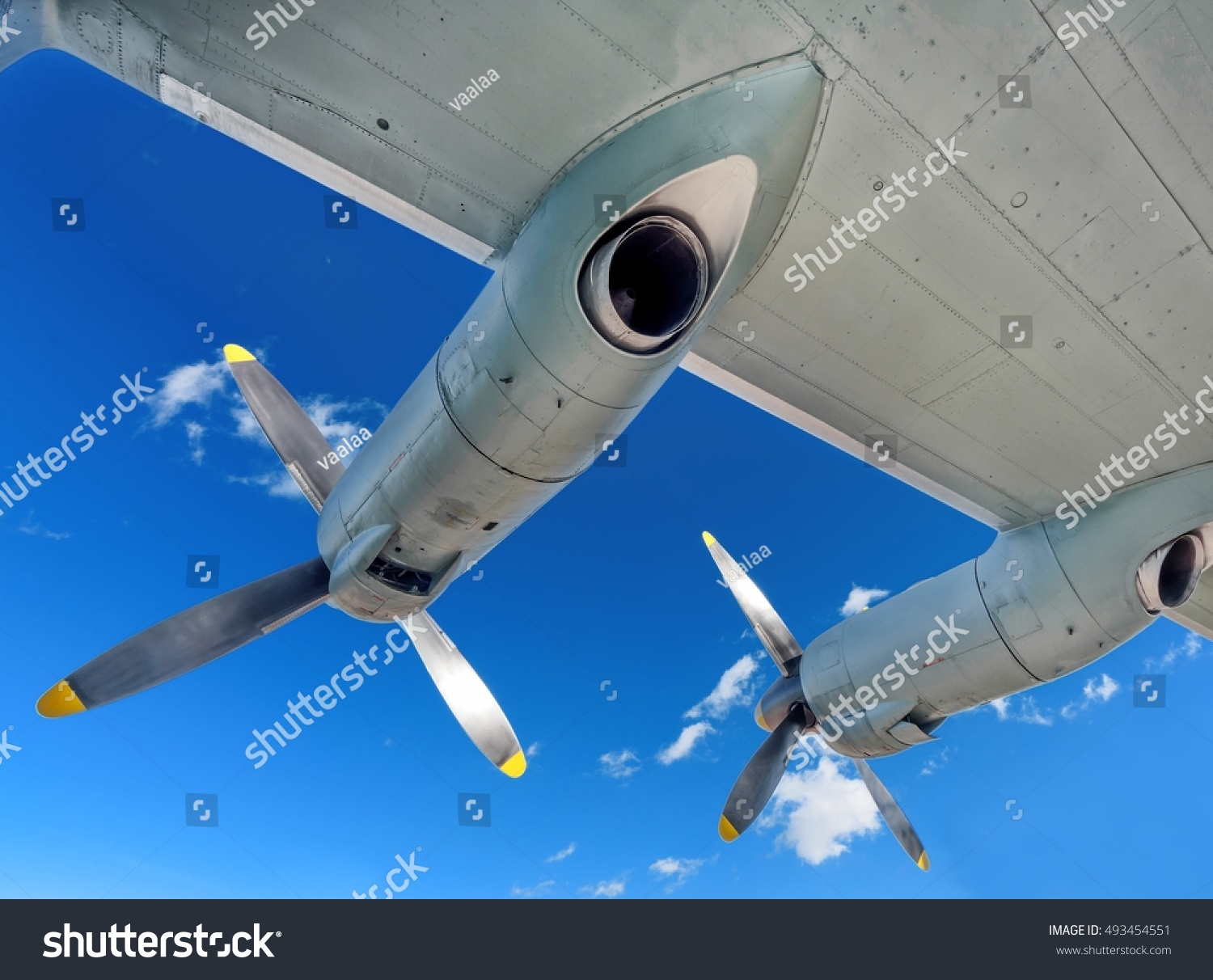 Aircraft Maintenance View Airplane Turbo Prop Stock Photo Edit Now Parts Of An Engine Exhaust Interior With Other Plane Bottom