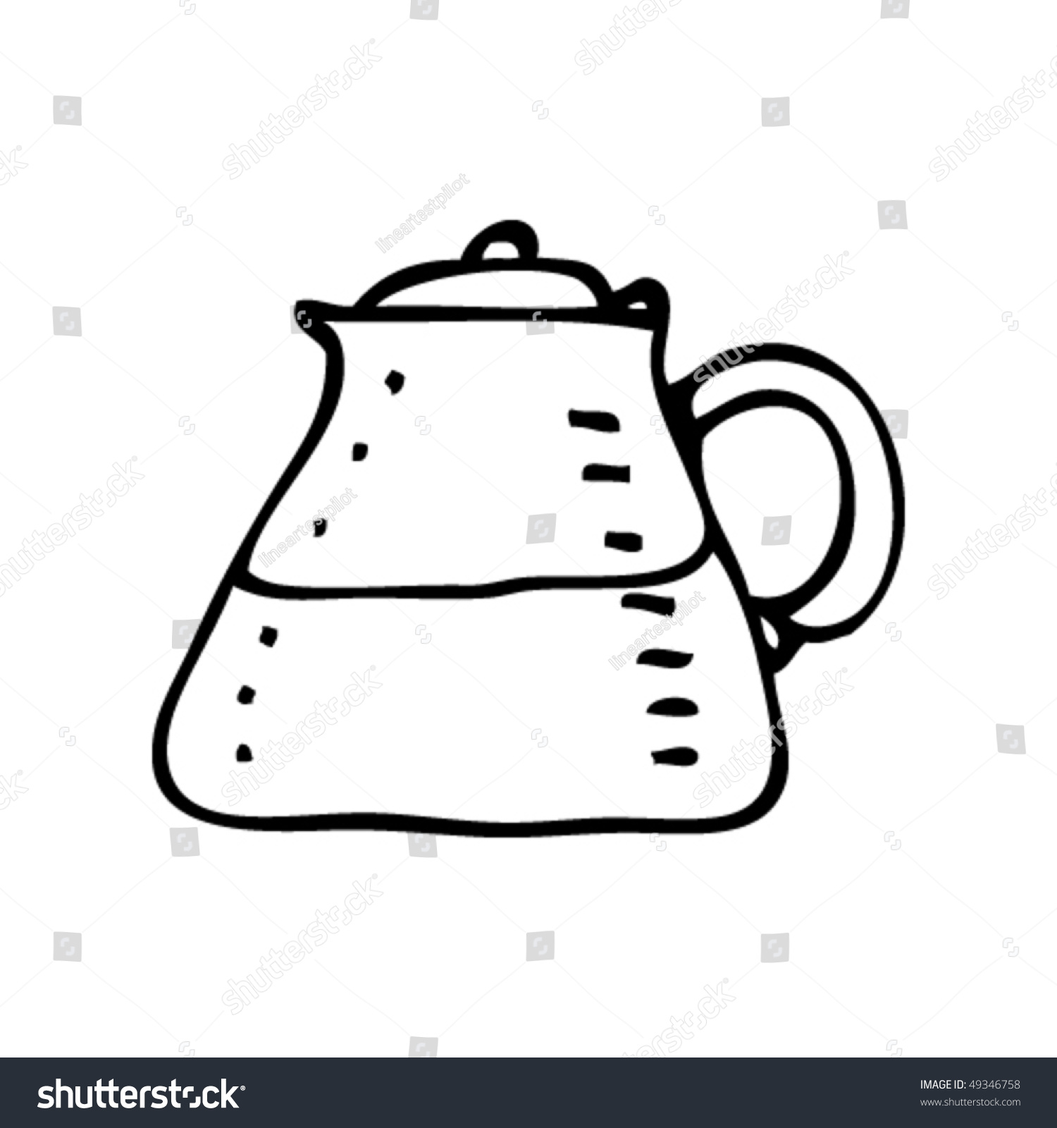 Quirky Drawing Of A Coffee Filter Jug