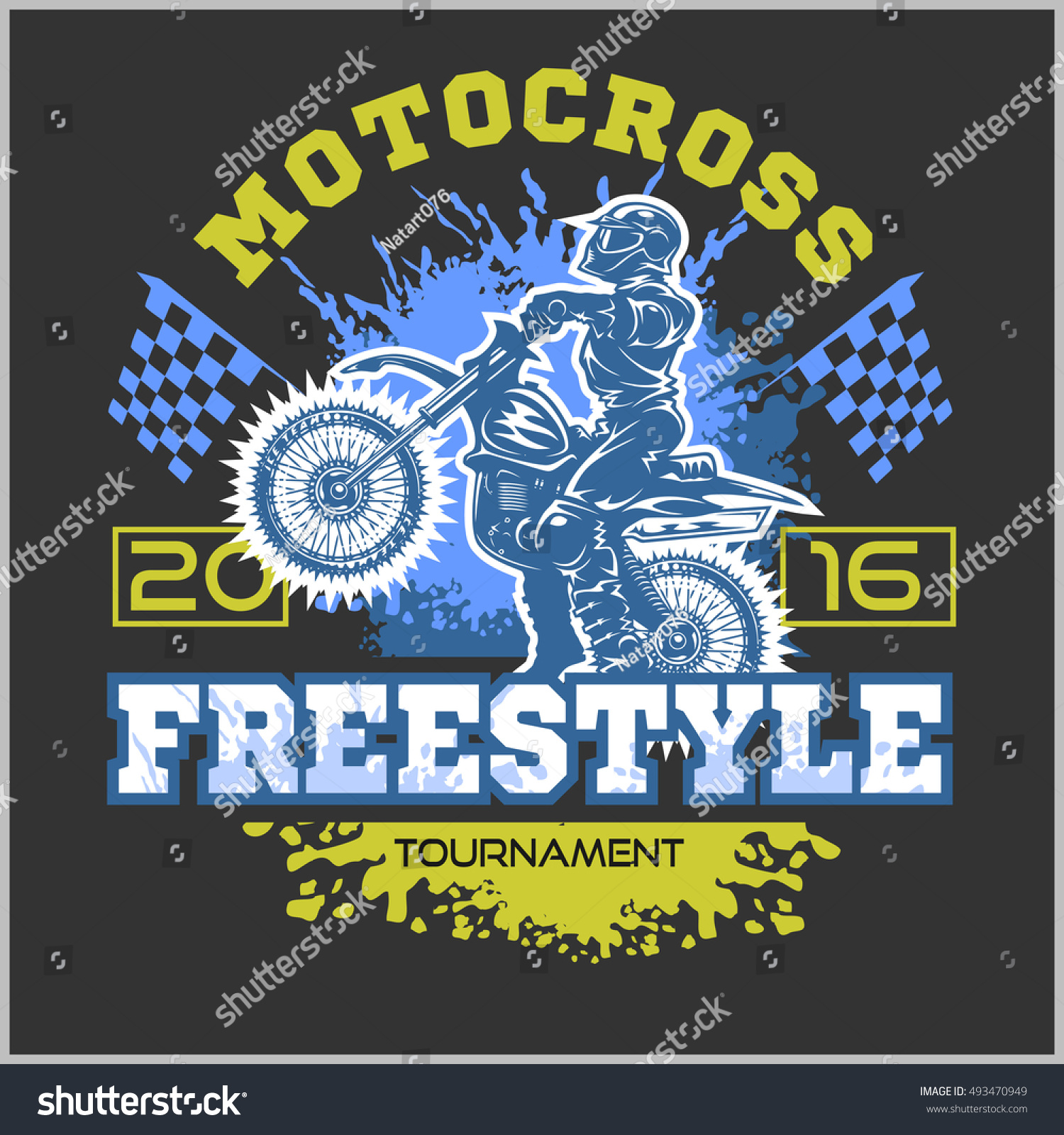 Design t shirt motocross - Extreme Motocross Emblem T Shirt Design