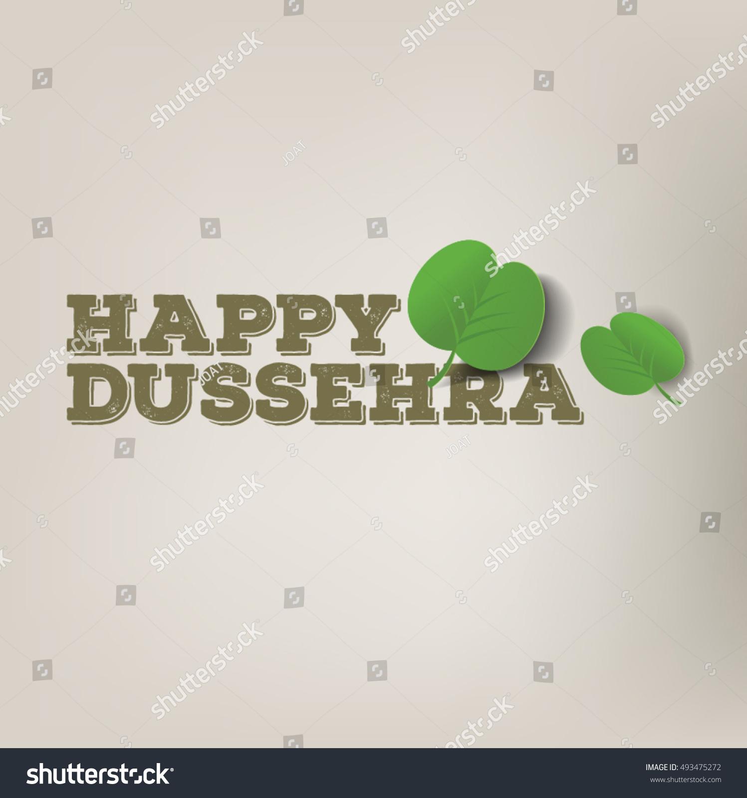 Happy Dussehra Message English Graphic Apta Stock Vector Royalty