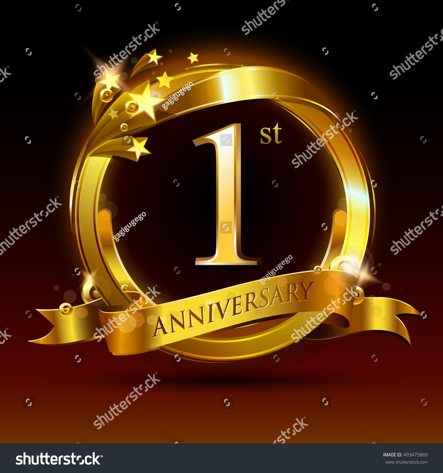 St golden anniversary logo year stock vector