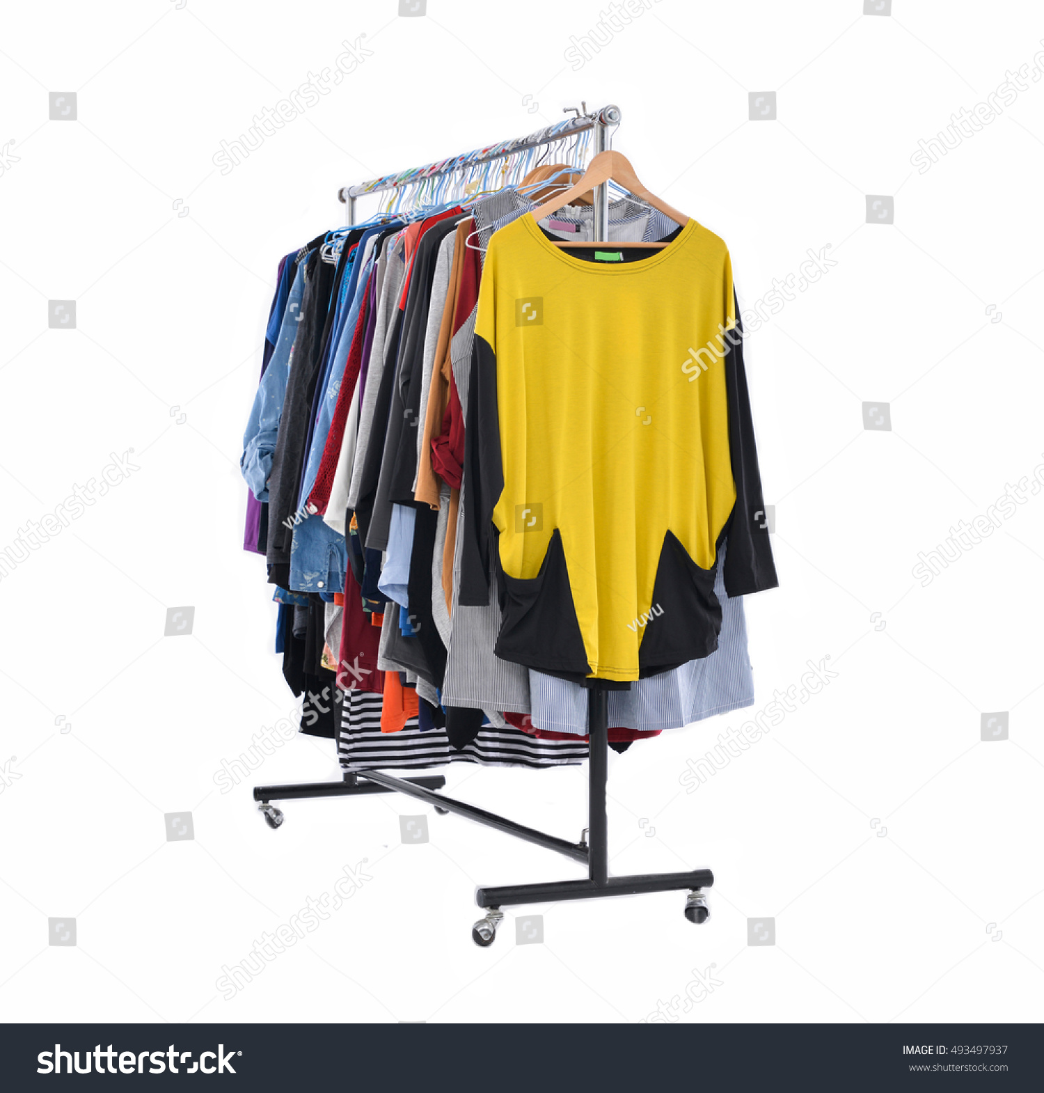 lightly in rack a hanging dorm even treading room laundry dry out clothes to