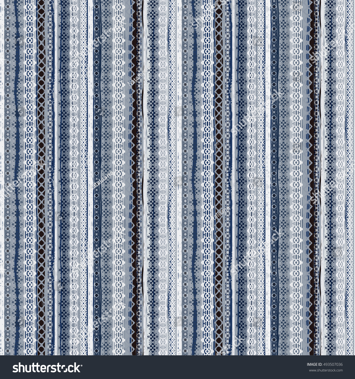 Boho style Ethnic seamless pattern Tribal art print Old abstract striped background texture