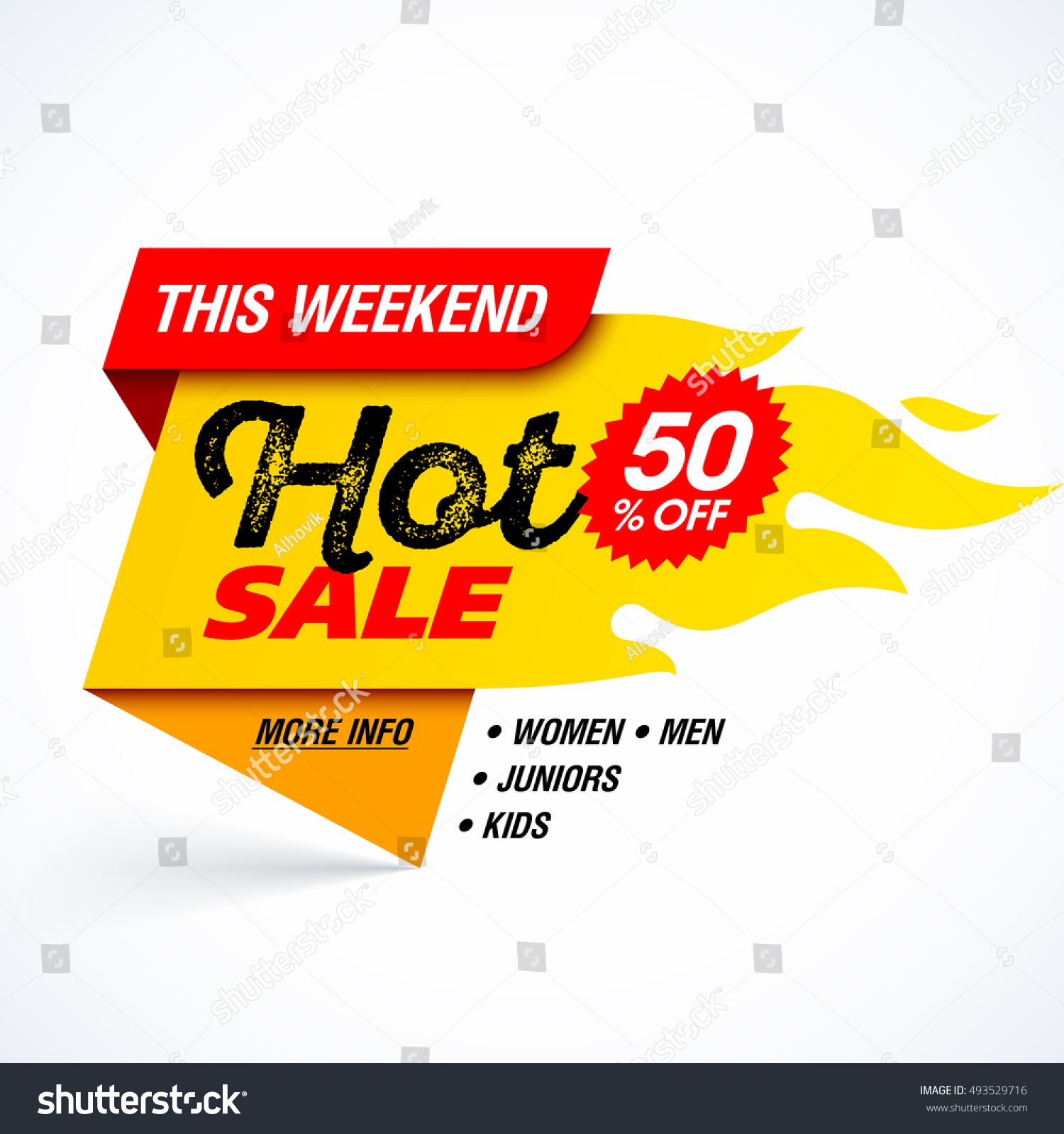 Weekend Sale Banner: Hot Sale Banner. This Weekend Special Offer, Big Sale