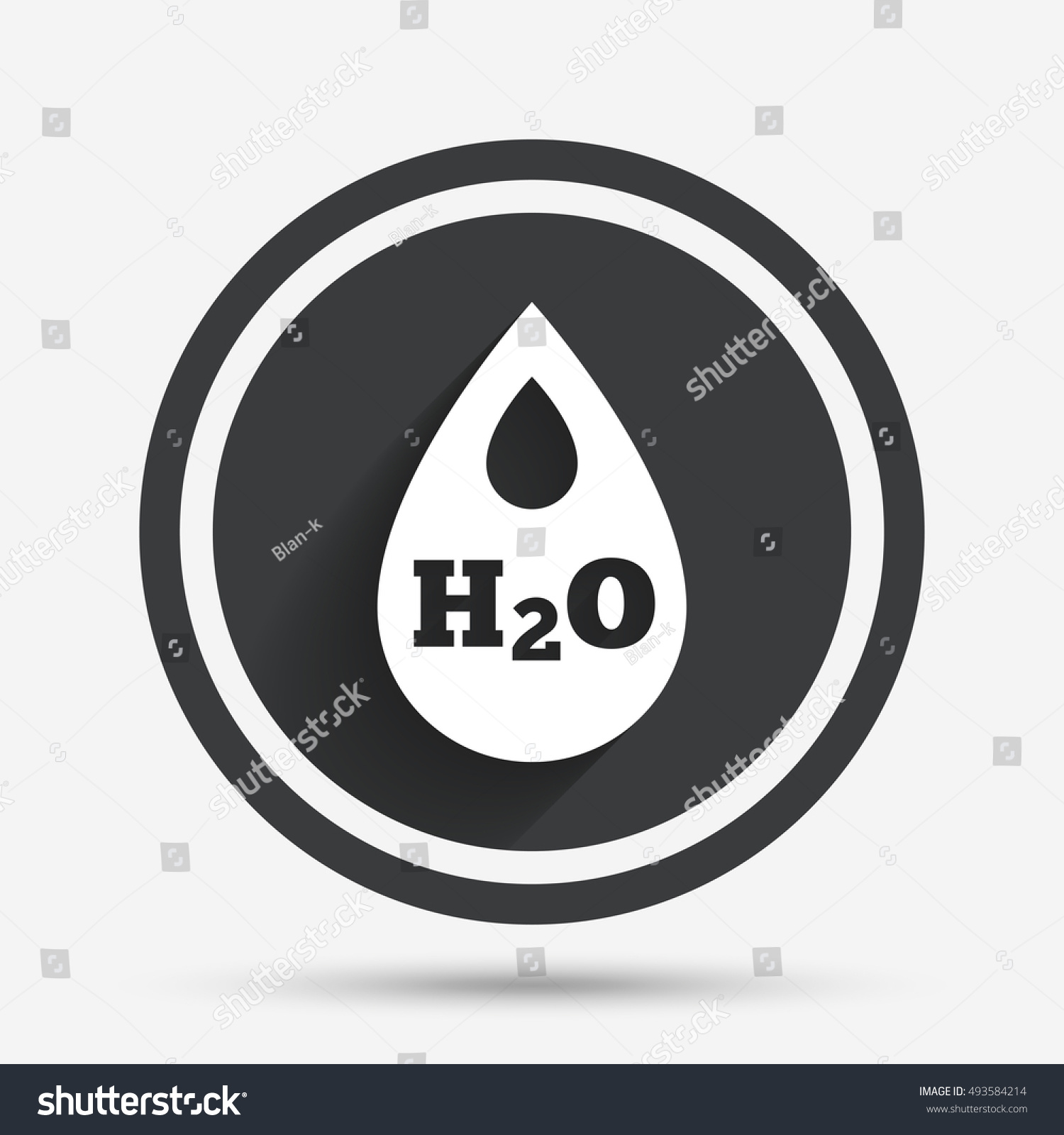 H 2 O Water Drop Sign Icon Tear Stock Vector 493584214 Shutterstock