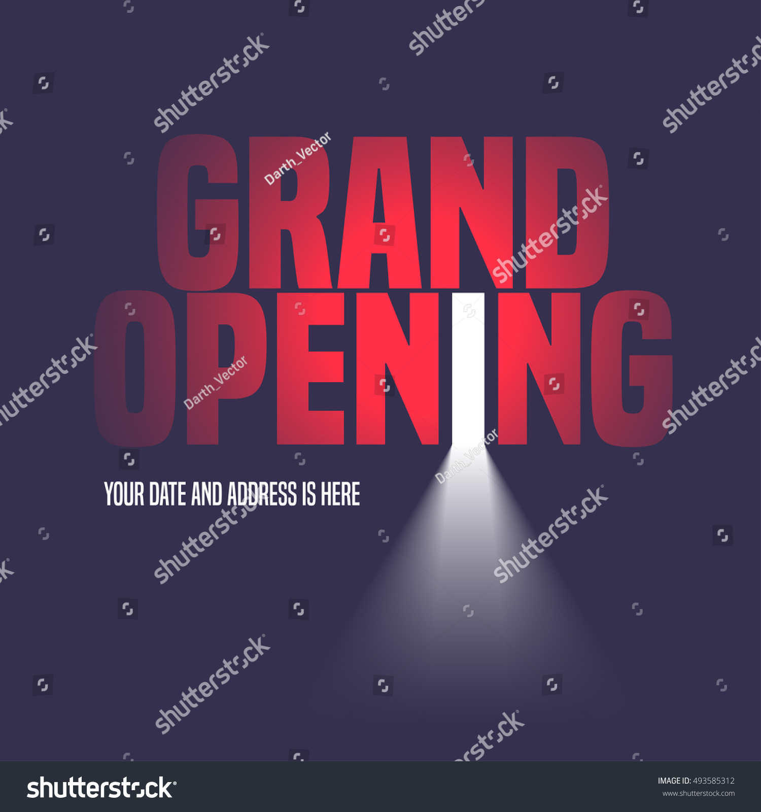 grand opening vector illustration background open stock