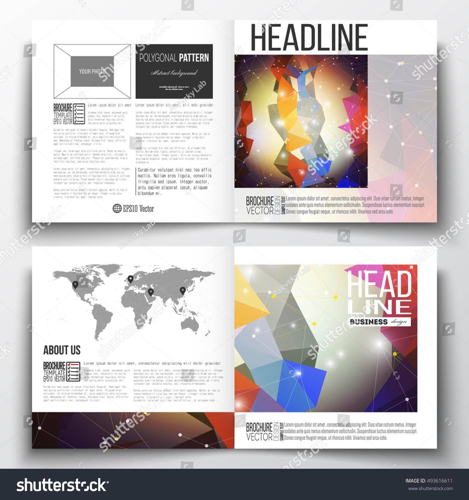 set square design brochure template molecular stock vector royalty