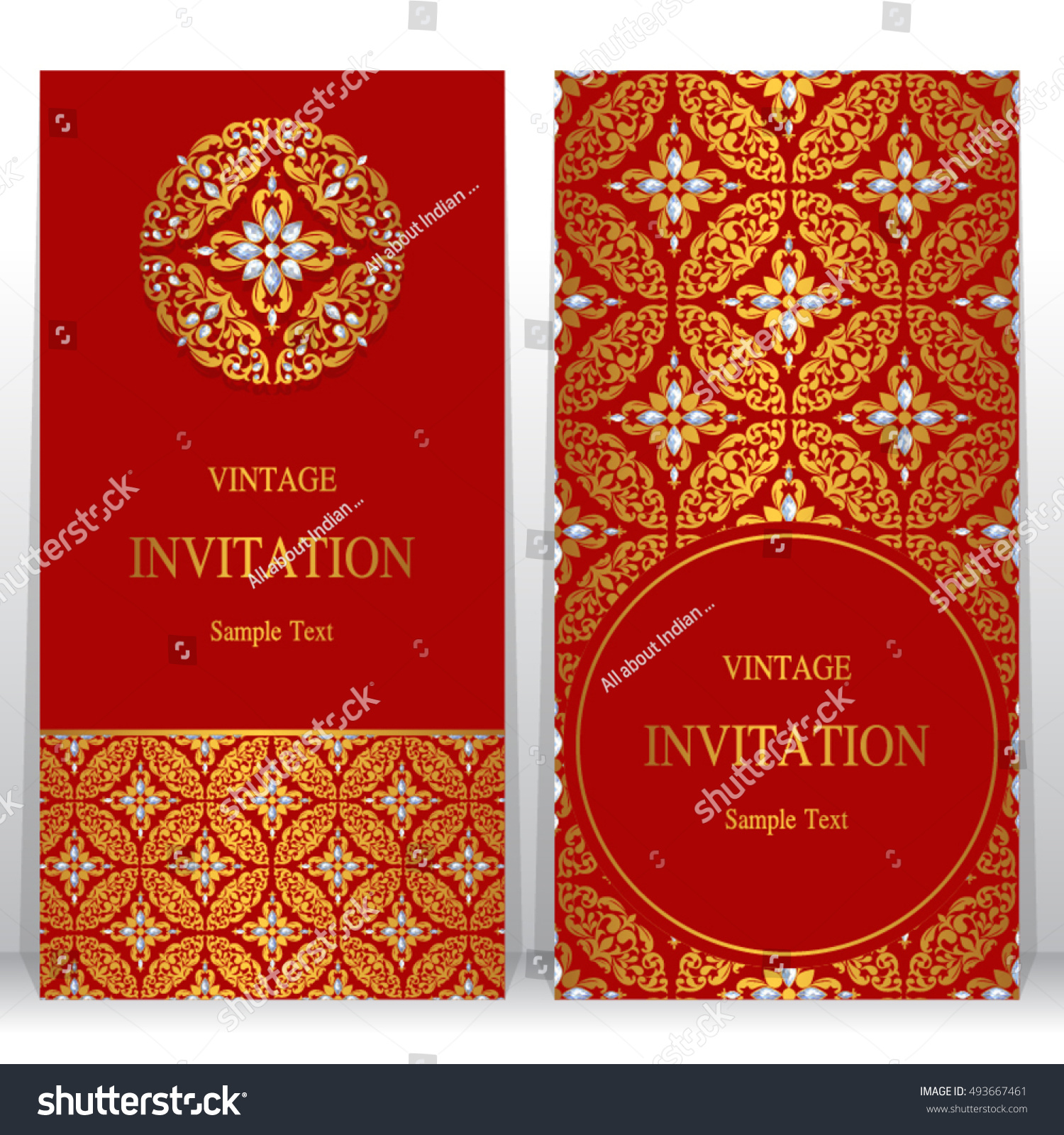 Wedding Invitation Card Abstract Background Islam Stock Vector HD ...