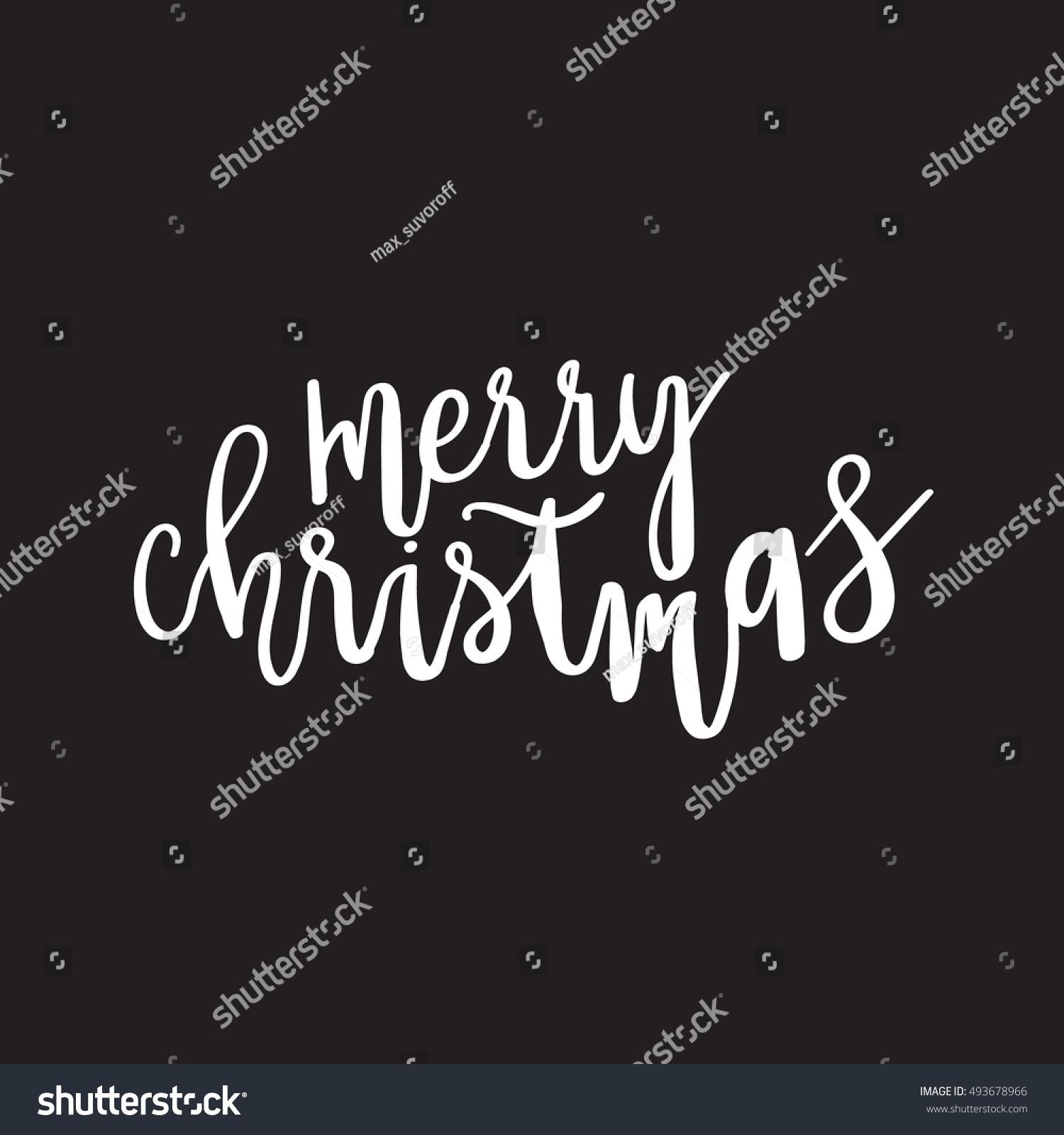 Merry Christmas Tree Unique Xmas Design Stock Vector (Royalty Free ...