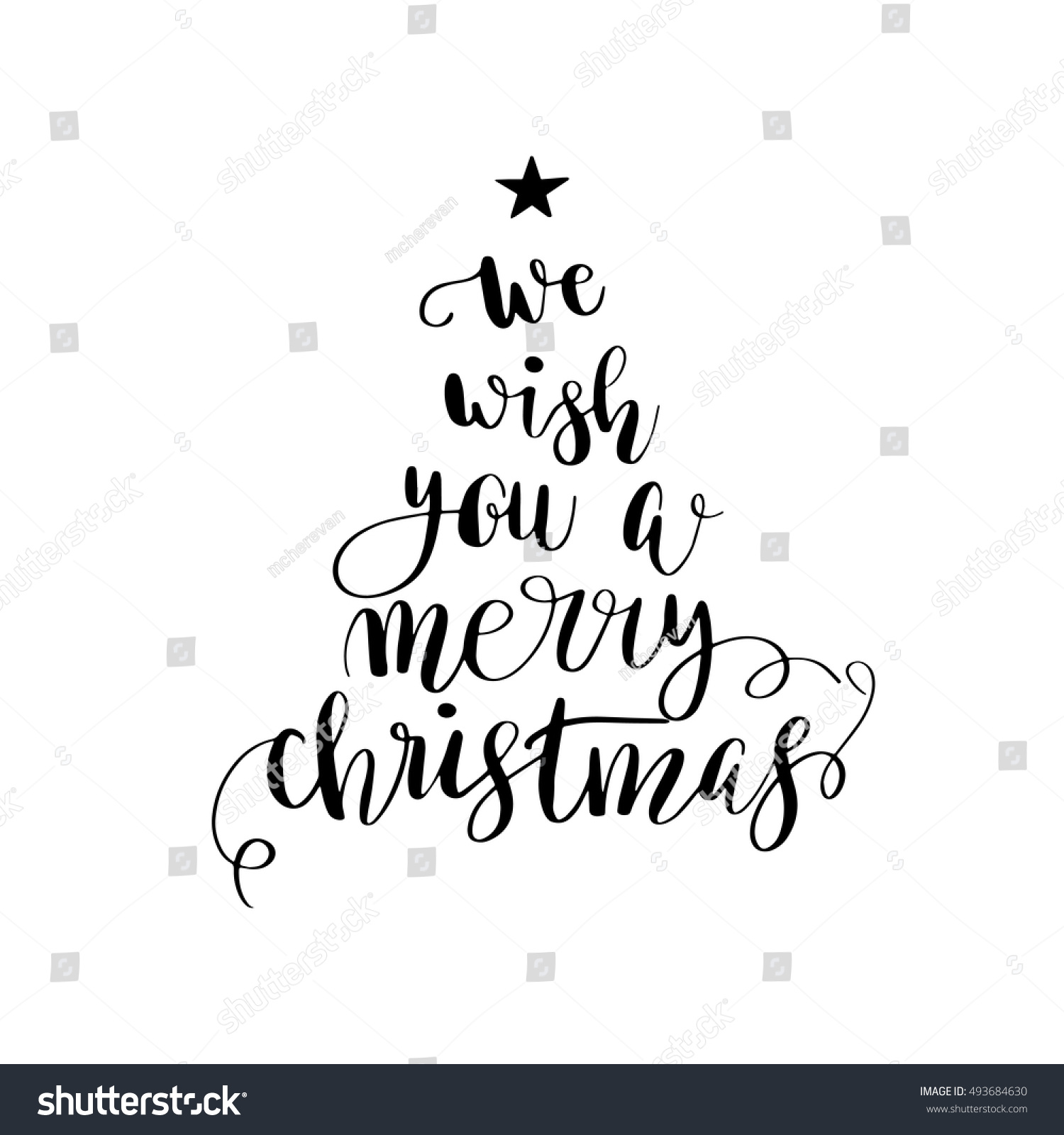 We Wish You Merry Christmas Poster Vector de stock (libre de ...