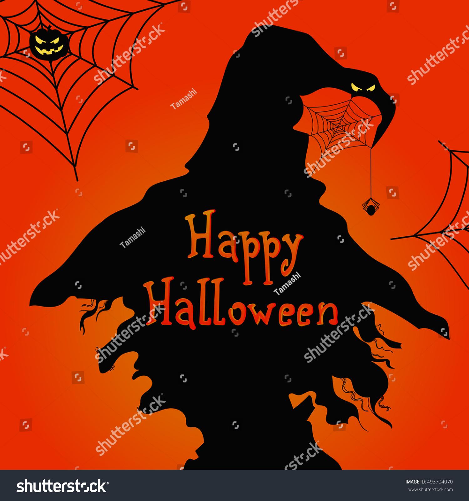 happy halloween vector image profile witch stock vector 493704070 - Chrispy Halloween
