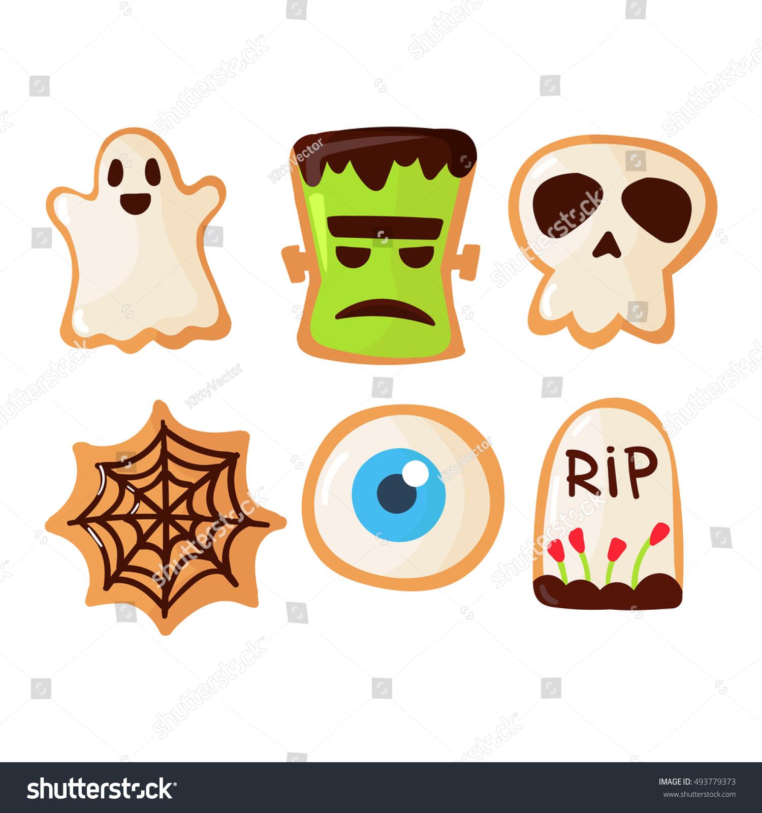 Halloween Symbols Vector Autumn Fear Creepy Stock Vector Royalty