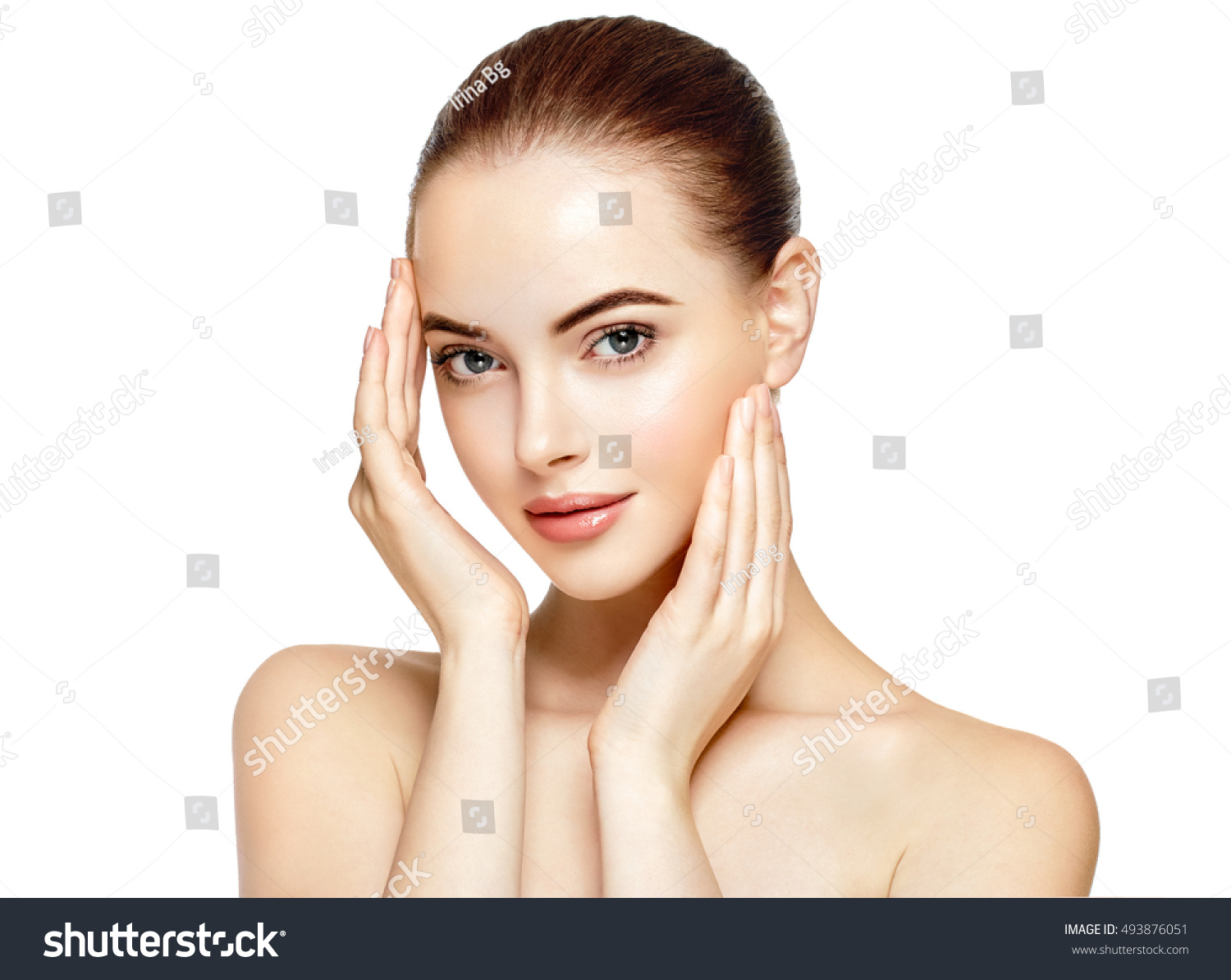 Beautiful Woman Face Portrait Beauty Skin Care Concept