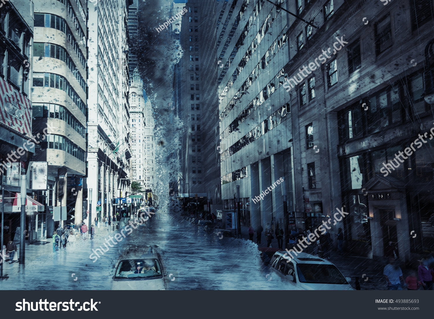 New York City Street Climate Weather Stock Photo (Edit Now