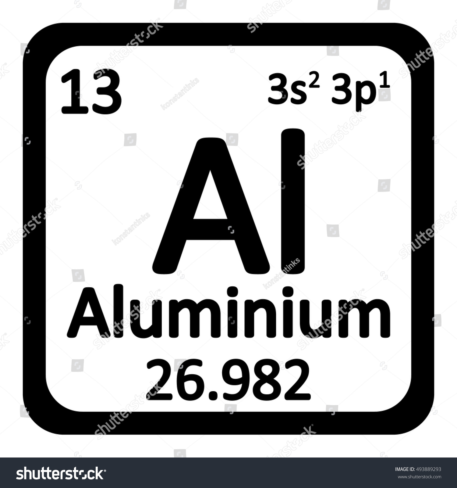Periodic table element aluminium icon on stock vector 493889293 periodic table element aluminium icon on white background vector illustration gamestrikefo Image collections