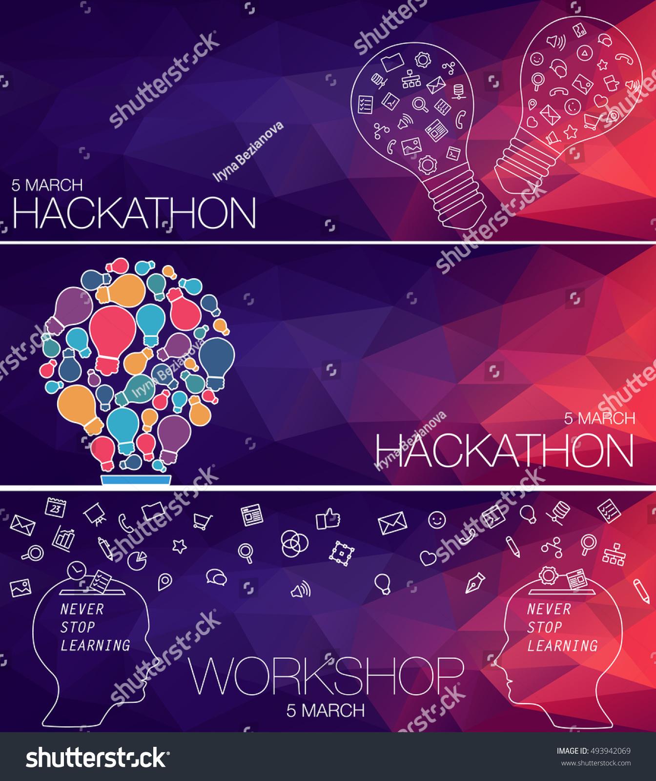 networking developers invitation people on hackathon stock vector 493942069 shutterstock. Black Bedroom Furniture Sets. Home Design Ideas