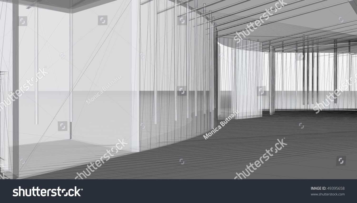 Abstract architectural d construction concept modern