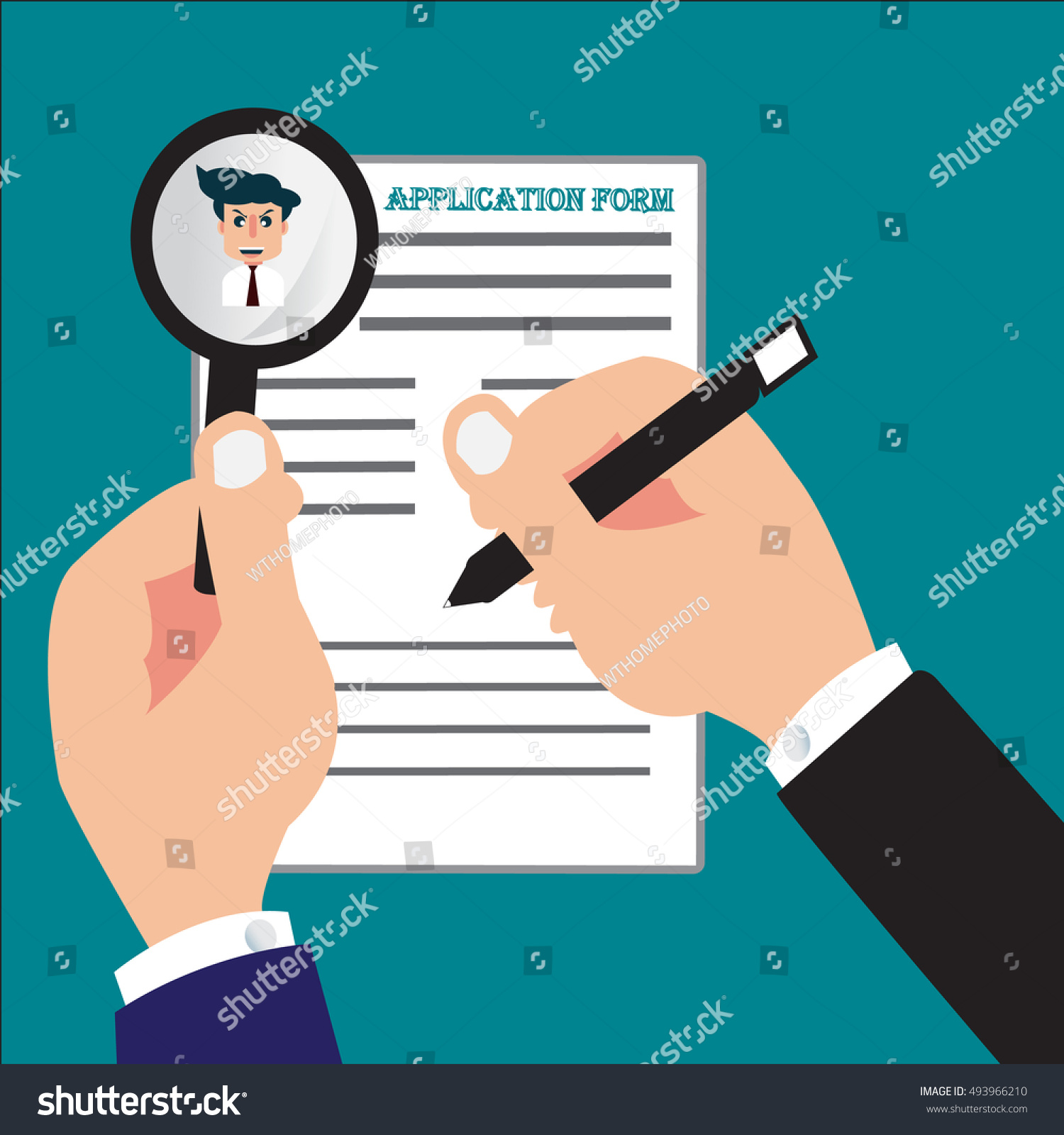 Businessman job seeker fill application form stock vector businessman or job seeker fill in application form with pen vector eps 10 falaconquin