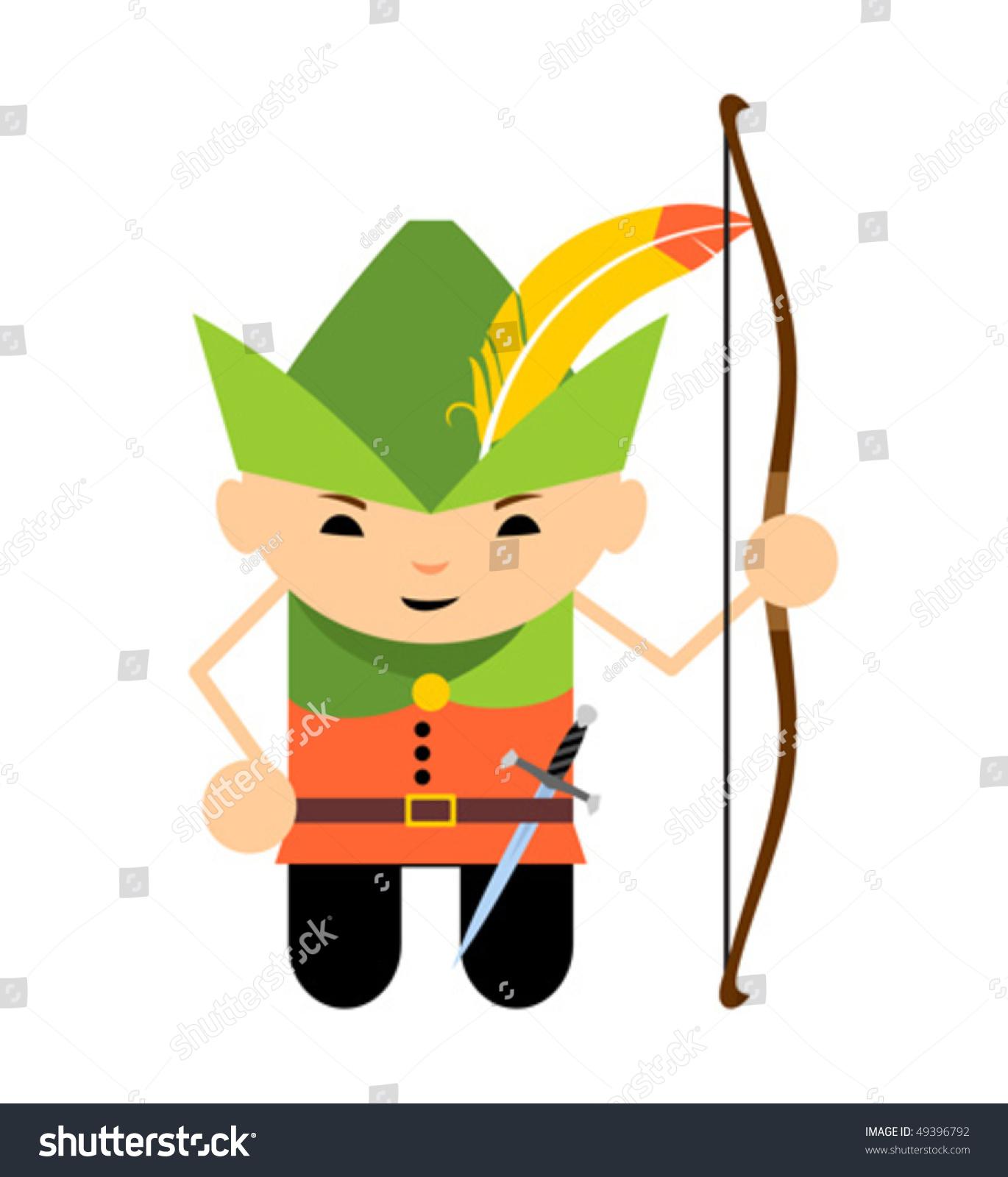 Robin Hood Cartoon Characters : Cartoon robin hood stock vector shutterstock