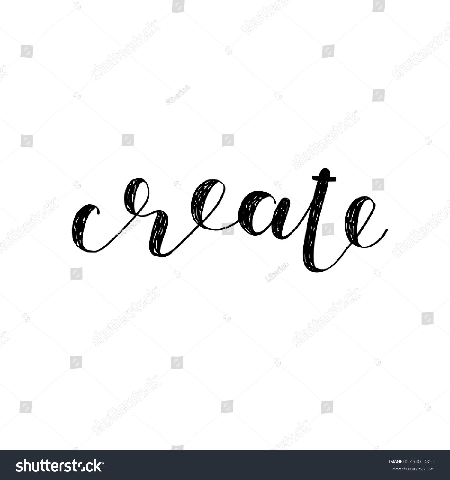 Create A Quote Create Brush Hand Lettering Inspiring Quote Stock Vector 494000857