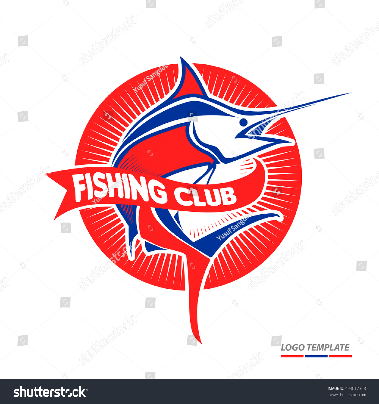 Fish Logo Template You Can Use Stock Vector (2018) 494017363 ...
