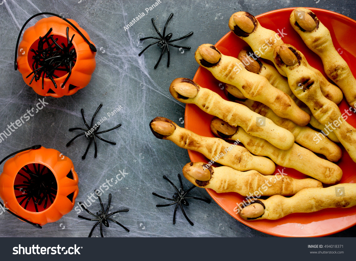 Halloween Witch Finger Cookies Kids Funny Stock Photo Edit Now