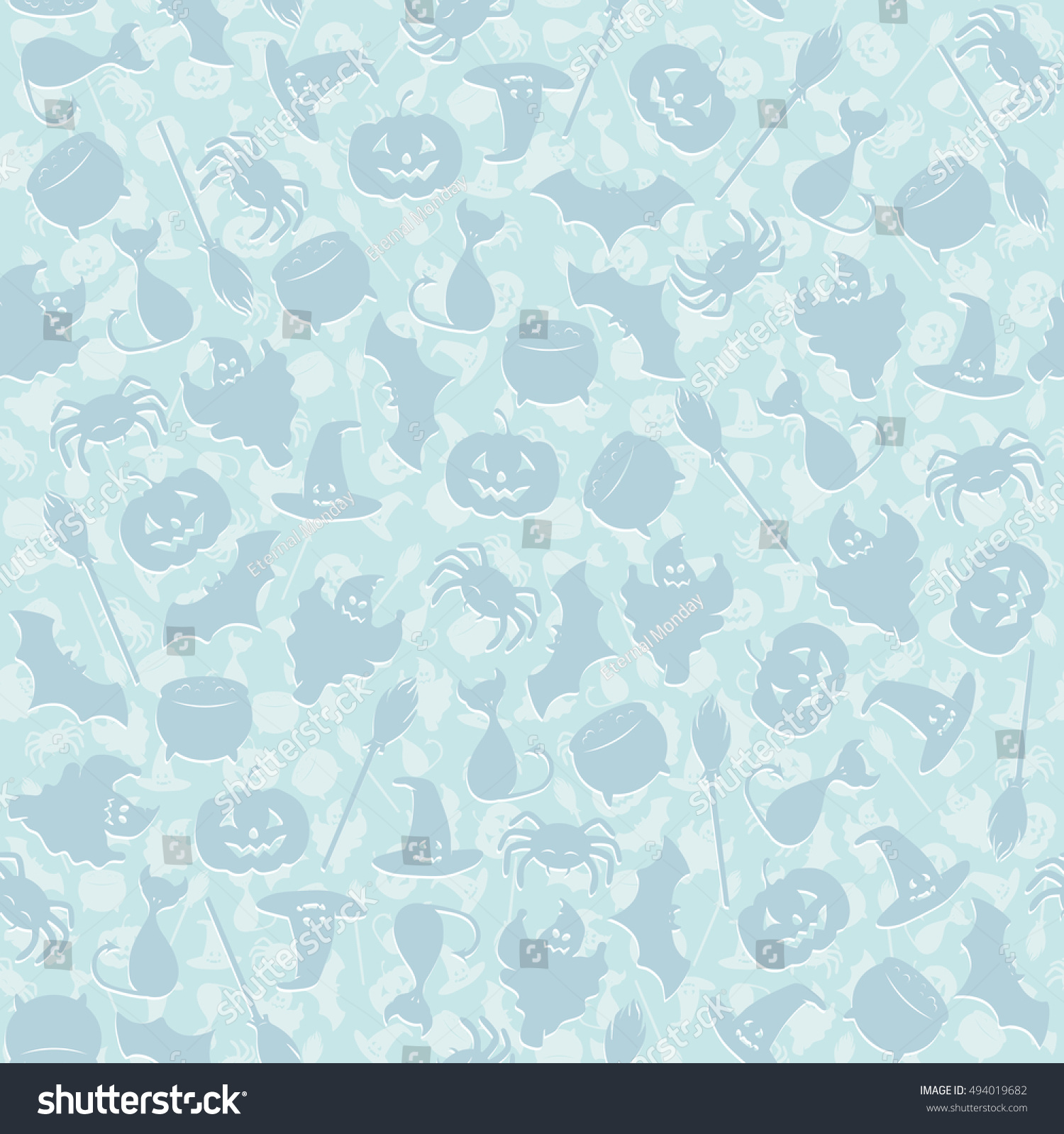Great Wallpaper Halloween Pastel - stock-vector-seamless-pattern-background-with-halloween-characters-in-pastel-blue-colors-cat-bat-pumpkin-494019682  2018_169321.jpg
