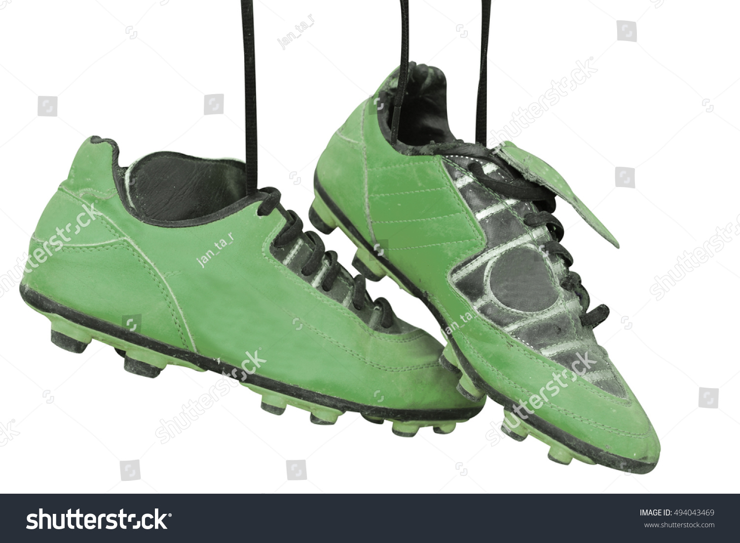 5e40067cb Pair Old Football Boots On White Stock Photo (Edit Now) 494043469