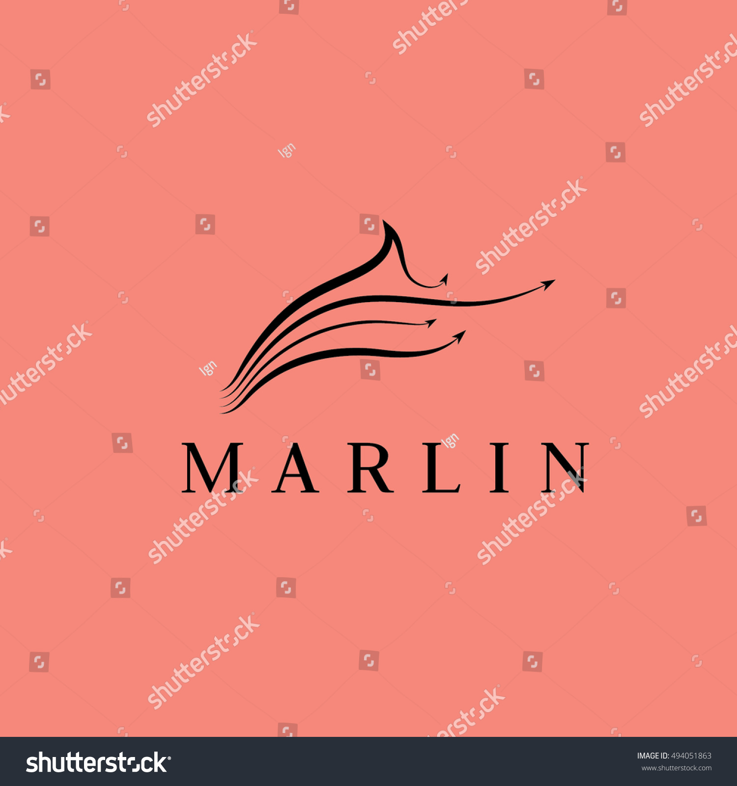Marlin logo  Stock Vector  IlyaF 75363325