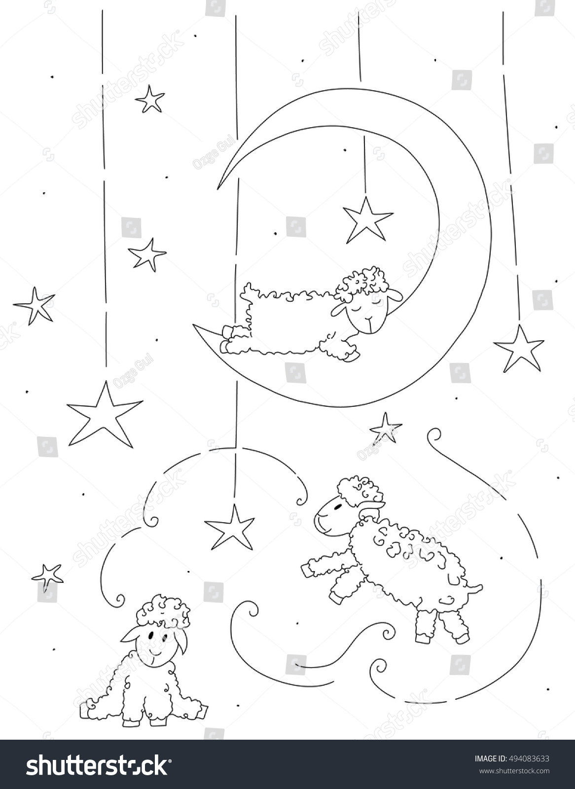 sleeping sheep coloring pages - photo#15