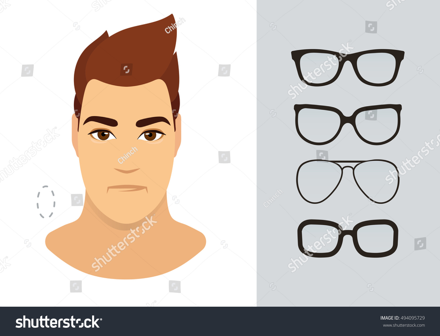 f72ff884f103 Man eyewear shapes for oblong man face type. Various forms of summer glasses  for oblong