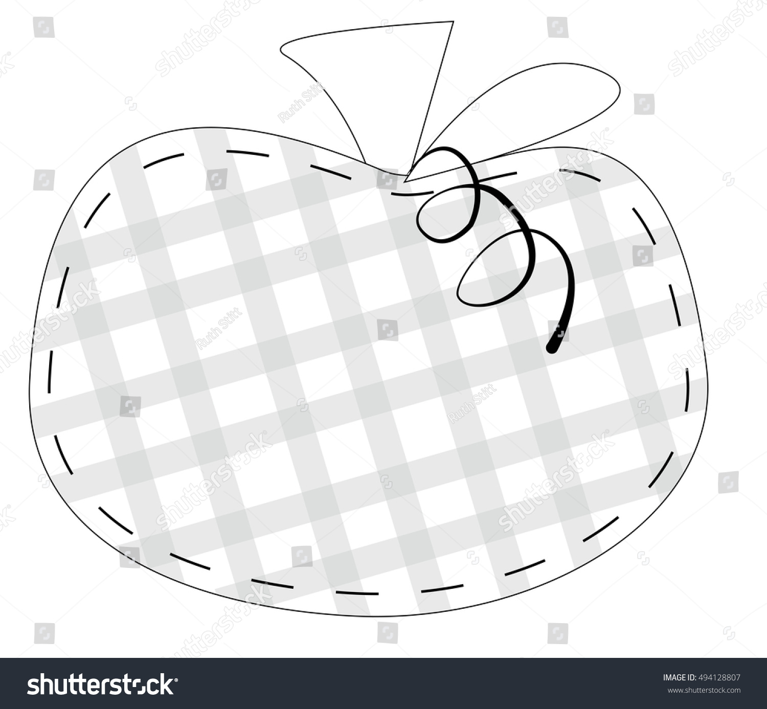 Pumpkin Coloring Page Stock Vector 494128807 - Shutterstock