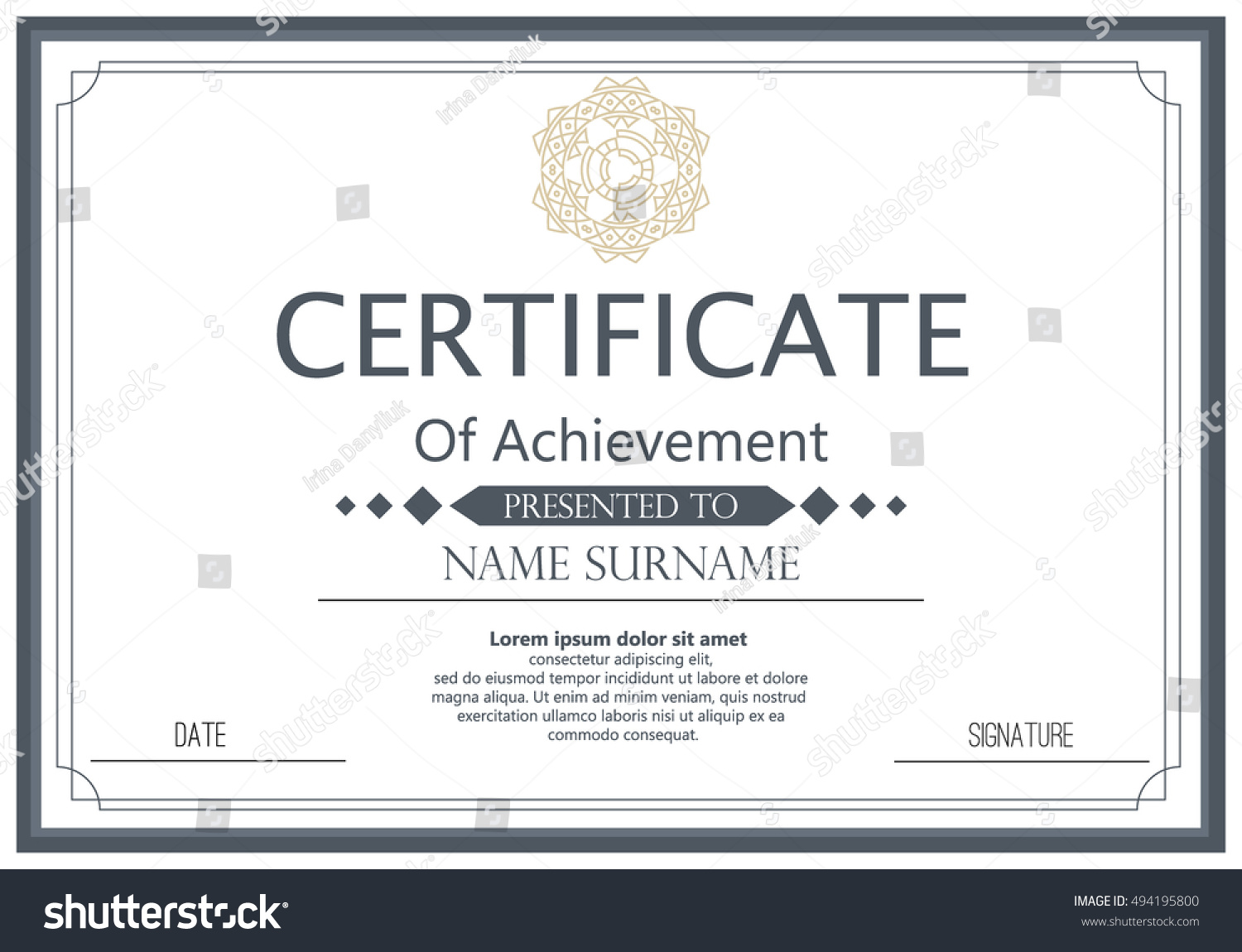 Vector certificate template vector award graduation stock vector vector certificate template vector award graduation certificate achievement success template border business paper coupon xflitez Choice Image