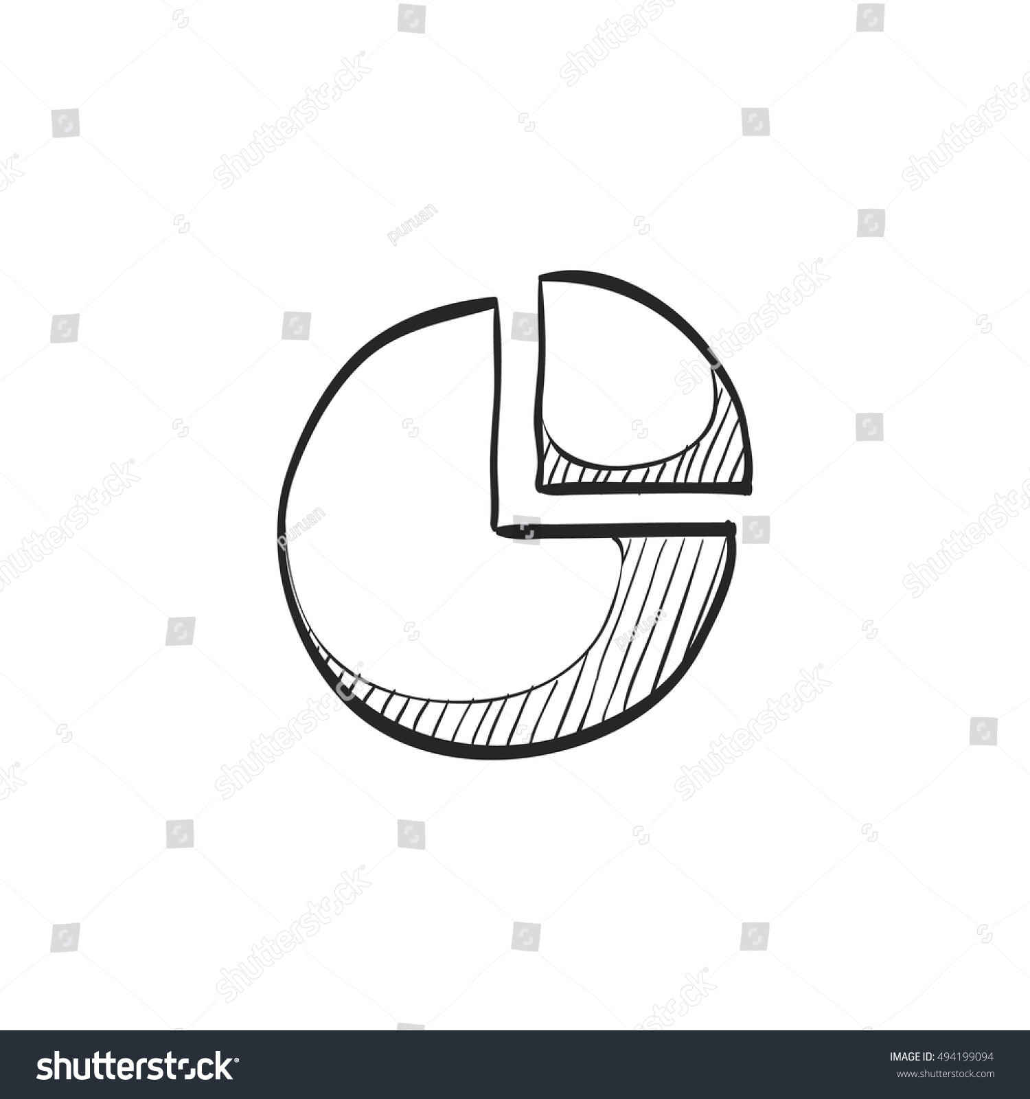 Pie chart icon doodle sketch lines stock vector 494199094 shutterstock pie chart icon in doodle sketch lines data report information office financial number presentation nvjuhfo Choice Image