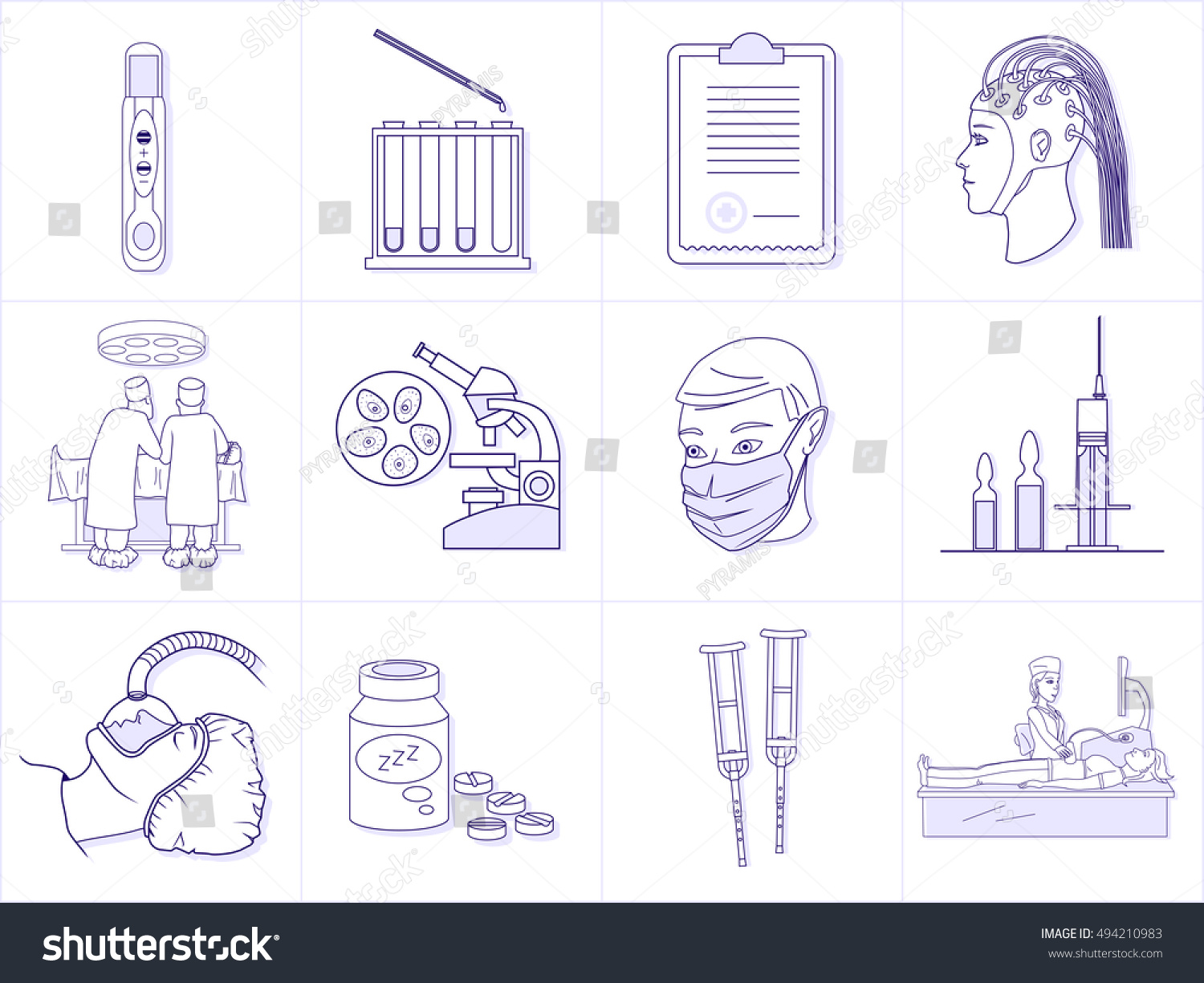 Set healthcare professionals medical equipment premium stock vector set of healthcare professionals and medical equipment premium quality outline symbol collection simple mono biocorpaavc Choice Image