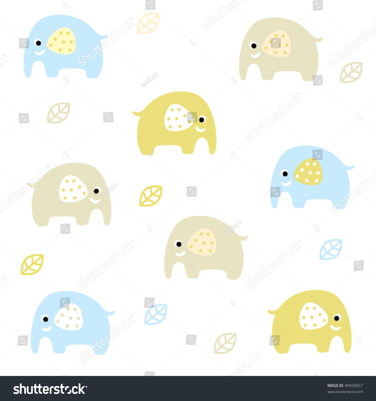 Cute elephant wrapping paper design stock vector for Cute paper designs