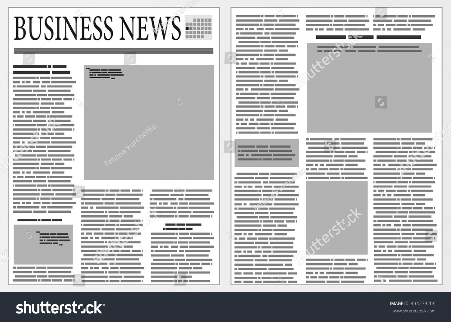 Graphical Design Newspaper Template Stock Photo (Photo, Vector ...