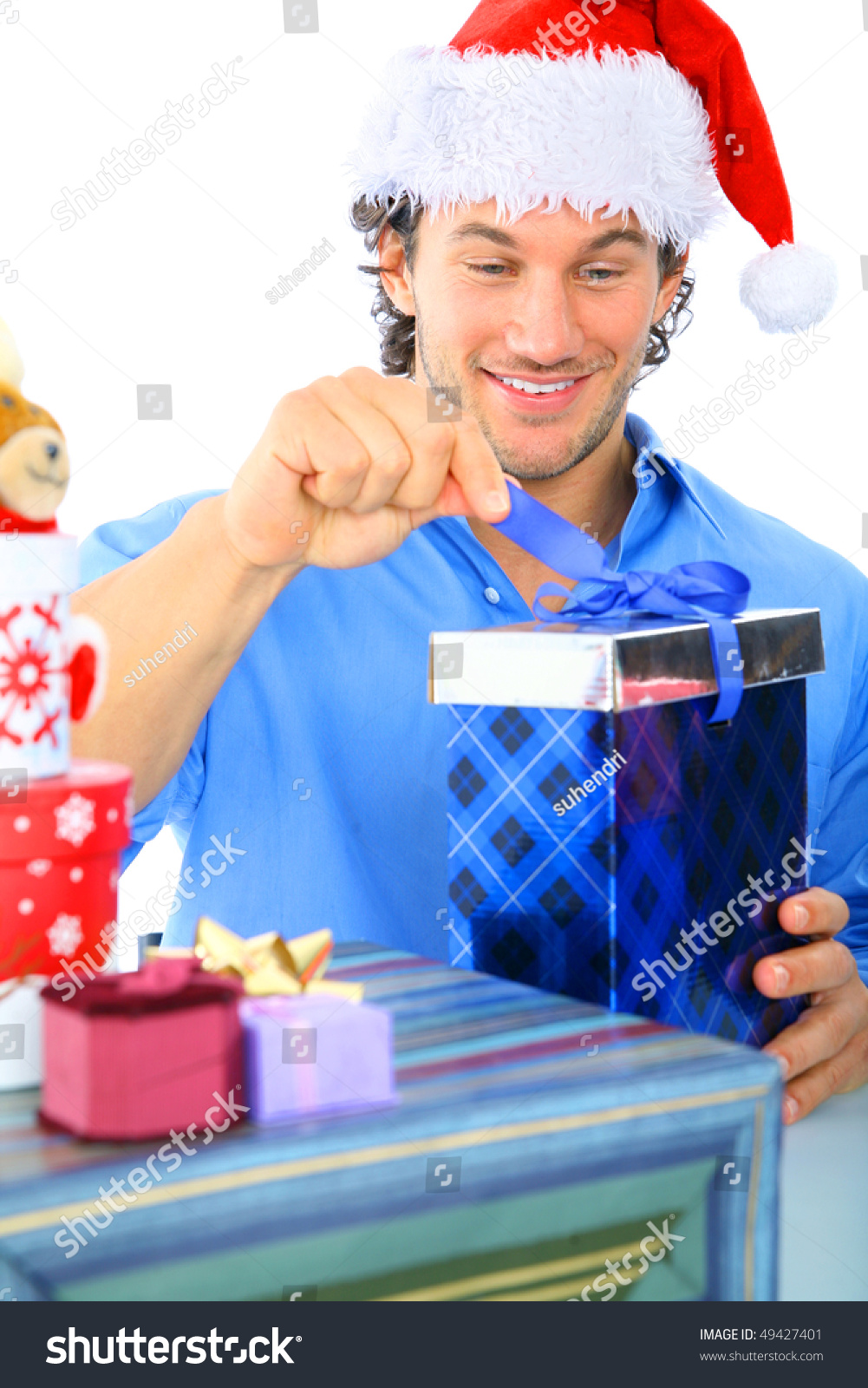 Happy Young Adult Wearing Christmas Santa Stock Photo (Edit Now ...