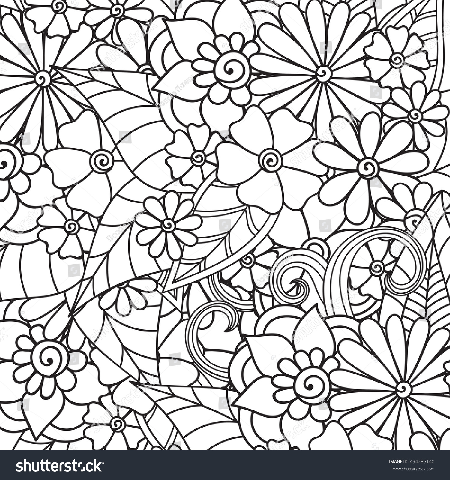 Fall Coloring Book Pages 764